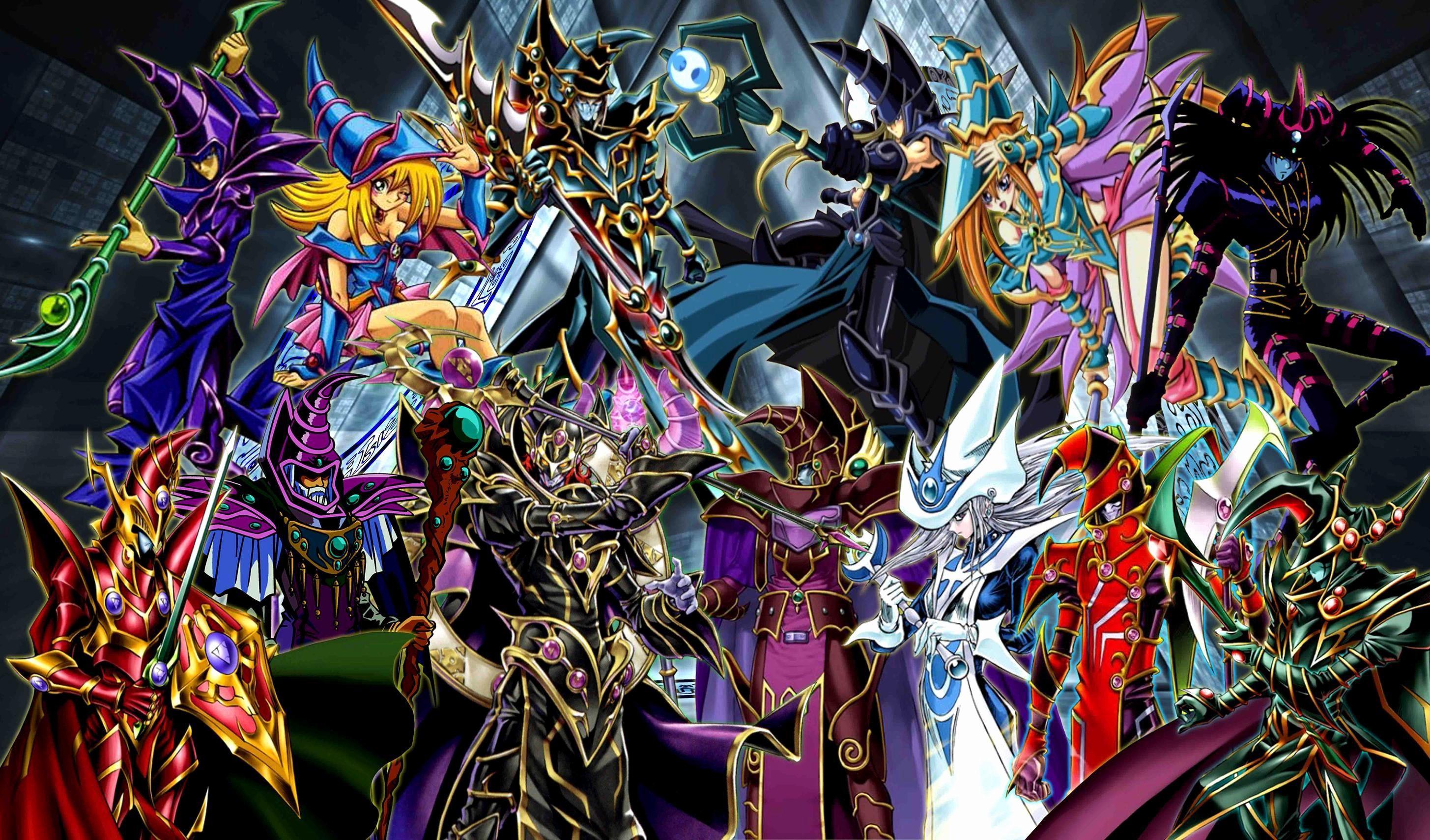 Yu Gi Oh Dark Magician Wallpapers Wallpaper Cave