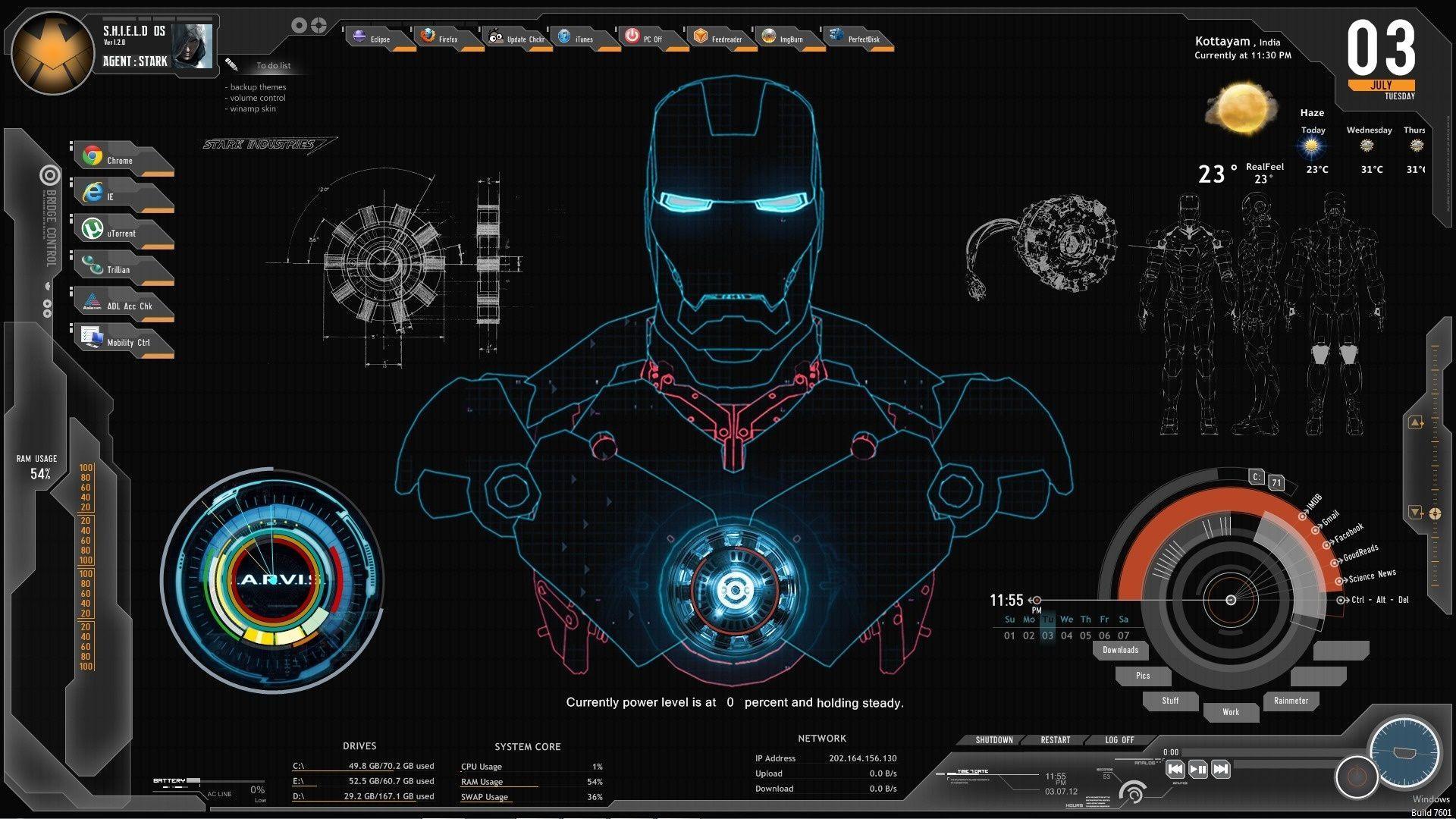 Iron man stark industries hd wallpapers wallpaper cave for Sfondi iron man