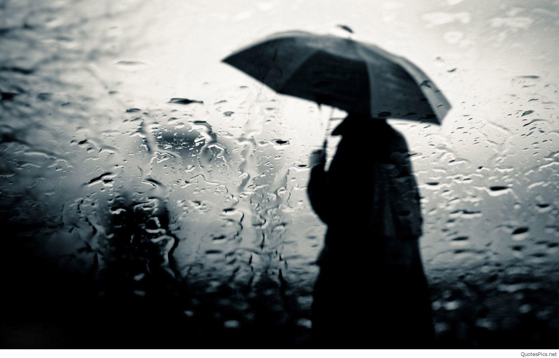 Sad Boy In Rain Wallpaper
