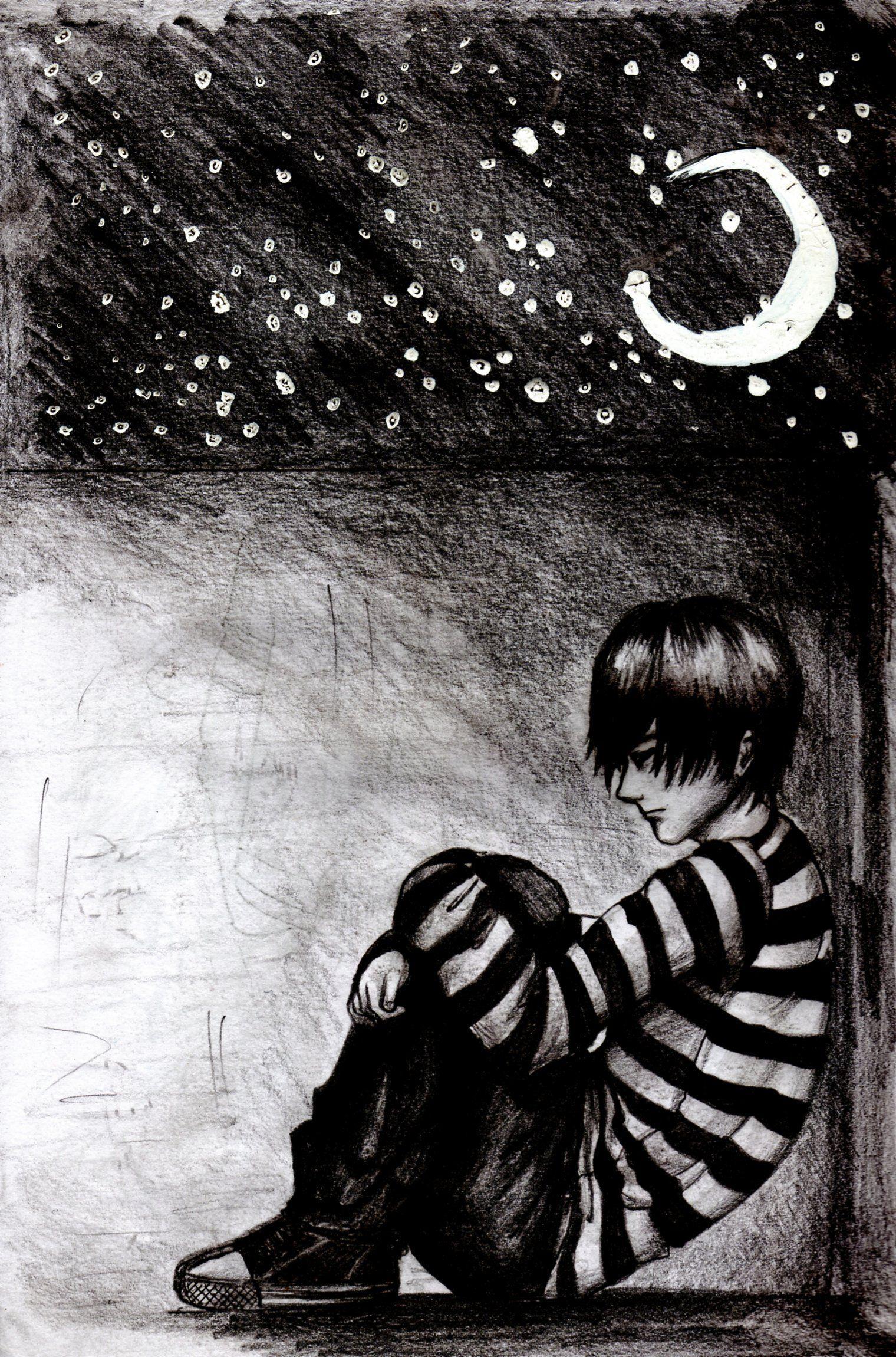 Sad boy by kett l on deviantart