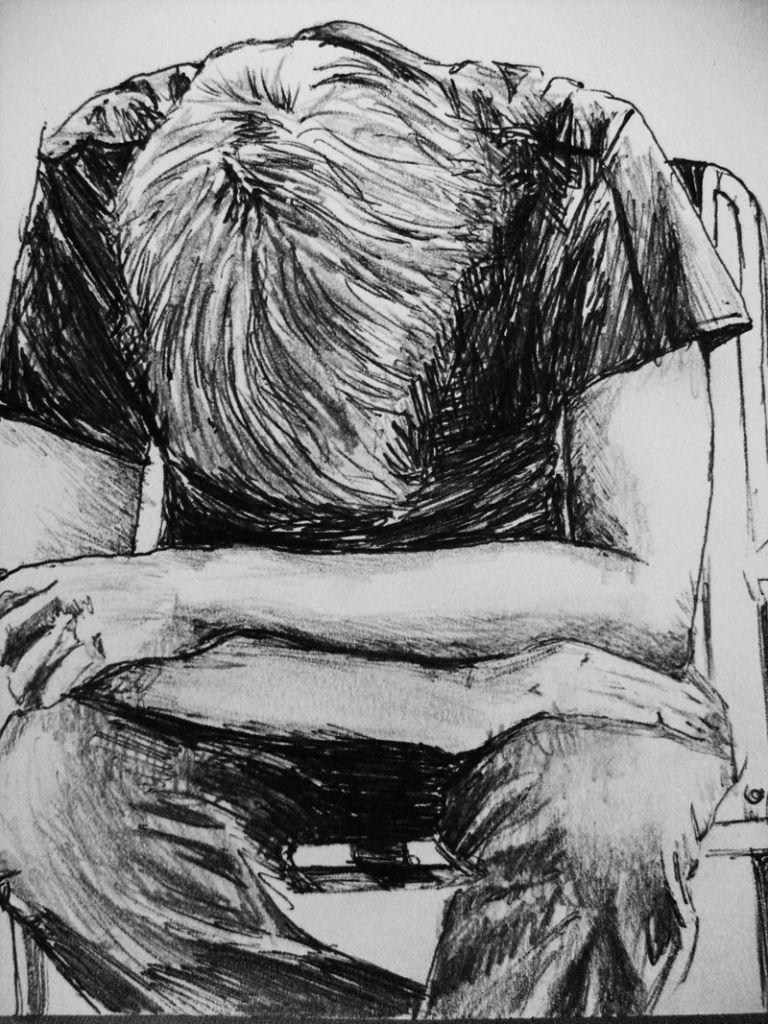 Pencil sketch wallpaper boy sadness a sad boy in rain pencil art