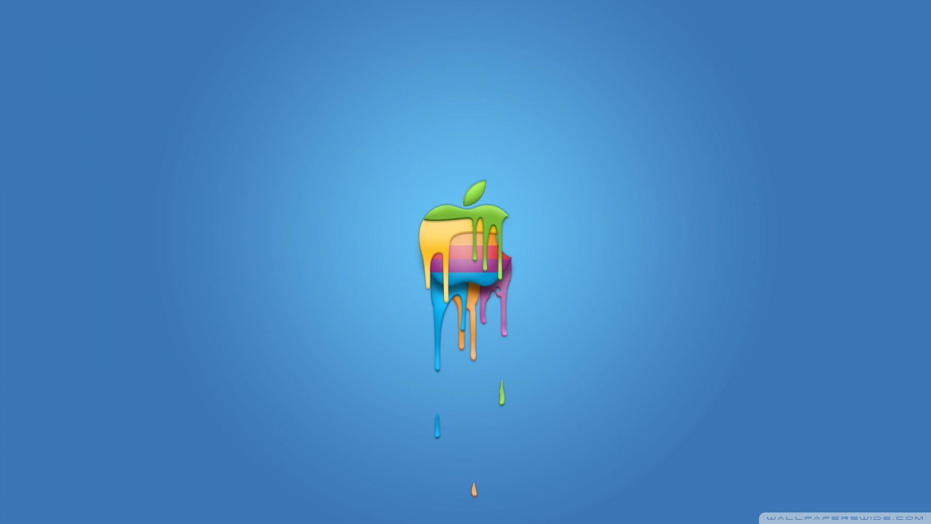 Apple Logo Paint ❤ 4K HD Desktop Wallpapers for 4K Ultra HD TV