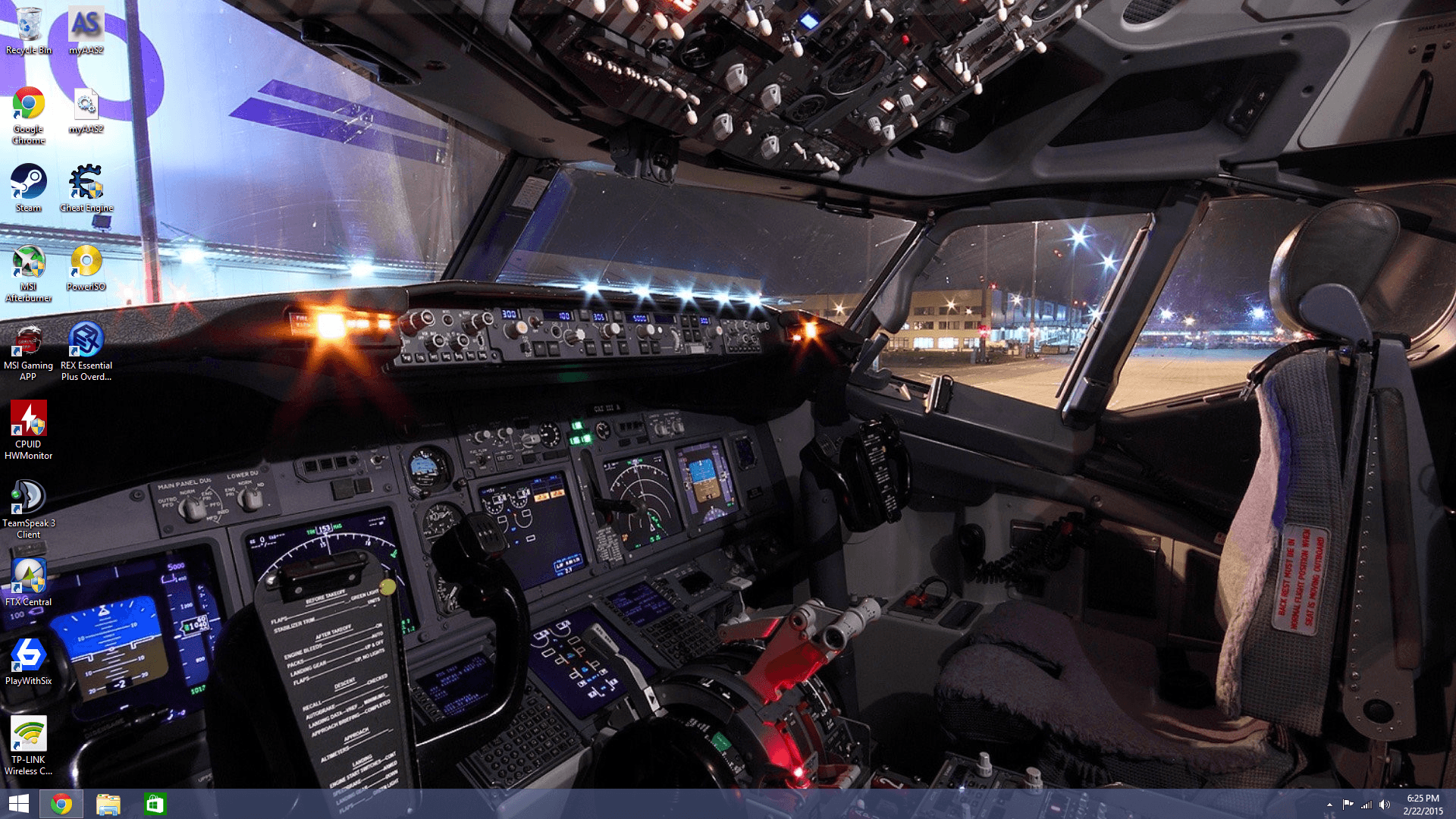 Boeing Cockpit Wallpapers Wallpaper Cave