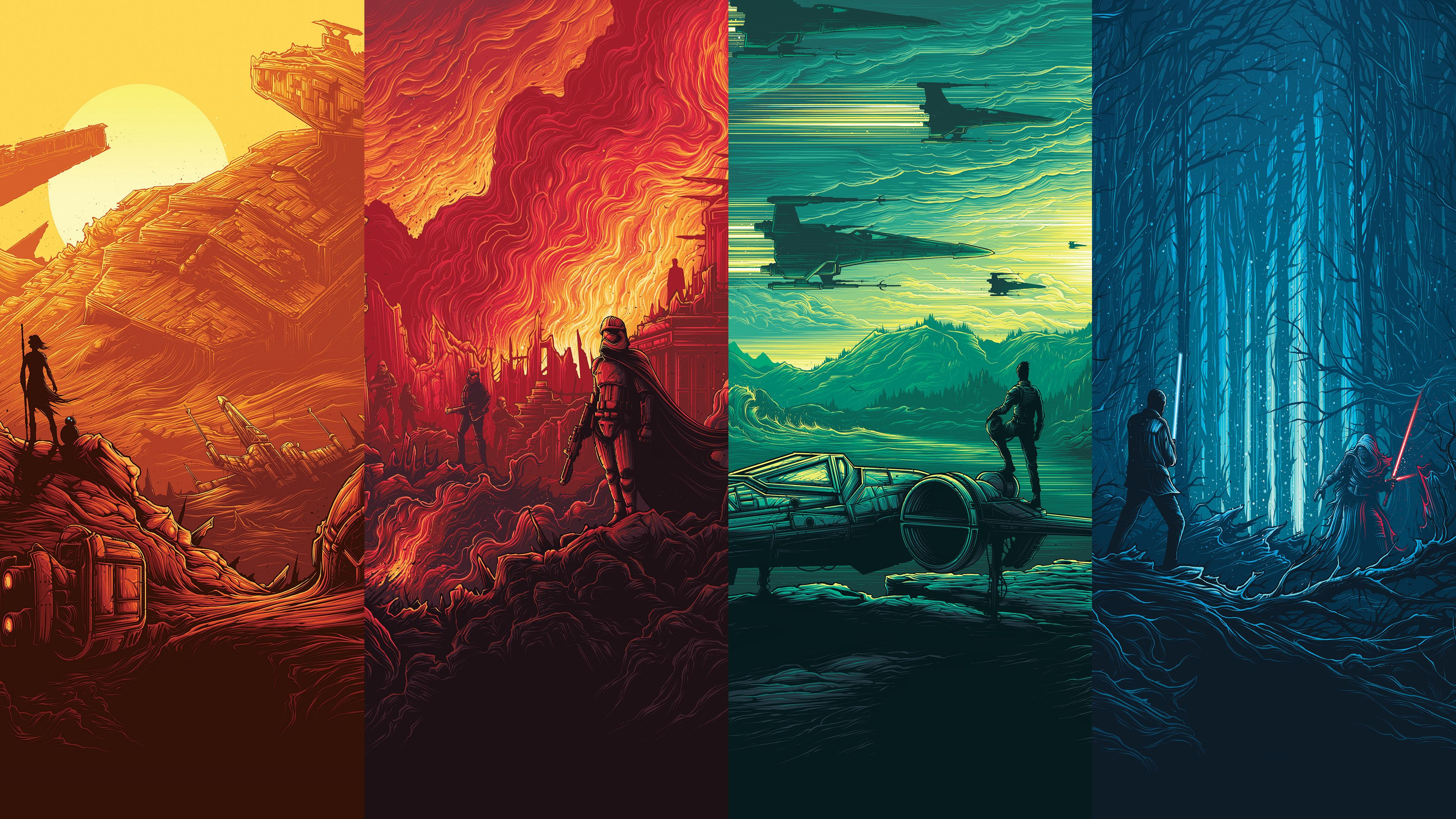 Wallpapers I made of those epic Imax Star Wars posters