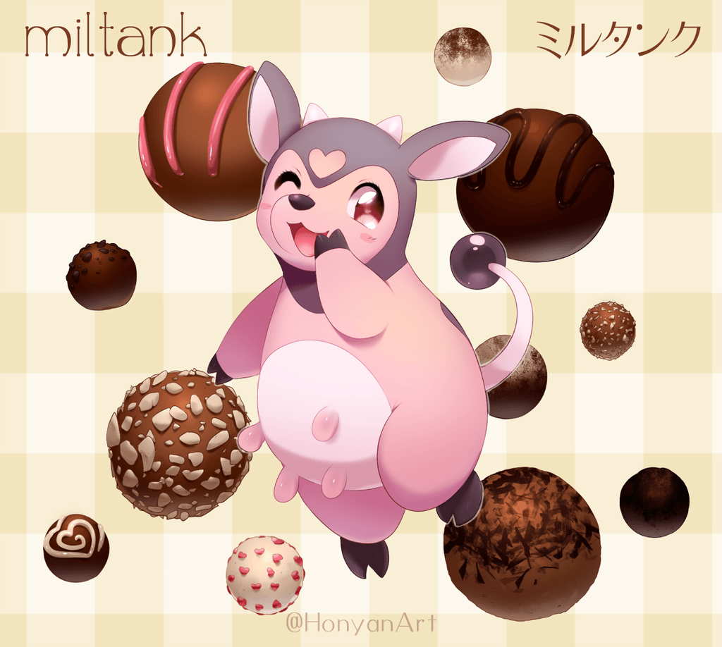 Miltank and Chocolate Truffles by Yajuuu on DeviantArt