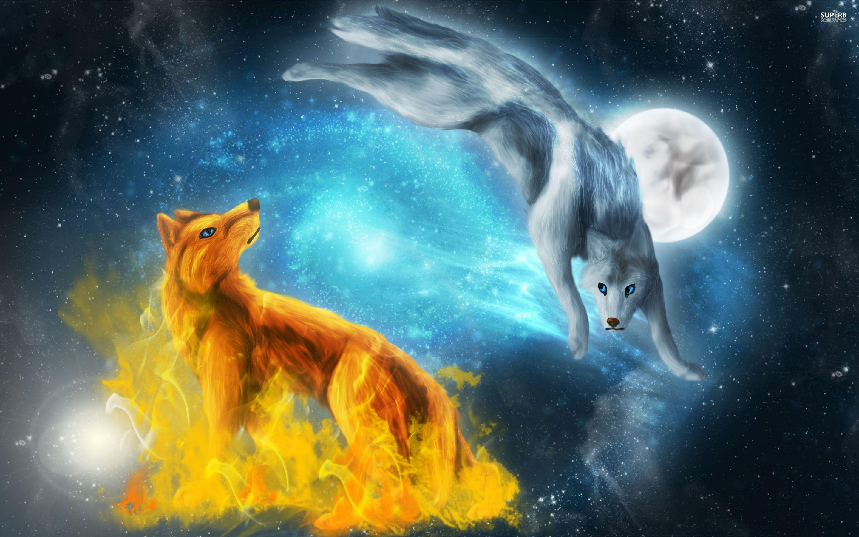Wolf Fantasy Wallpapers Wallpaper Cave