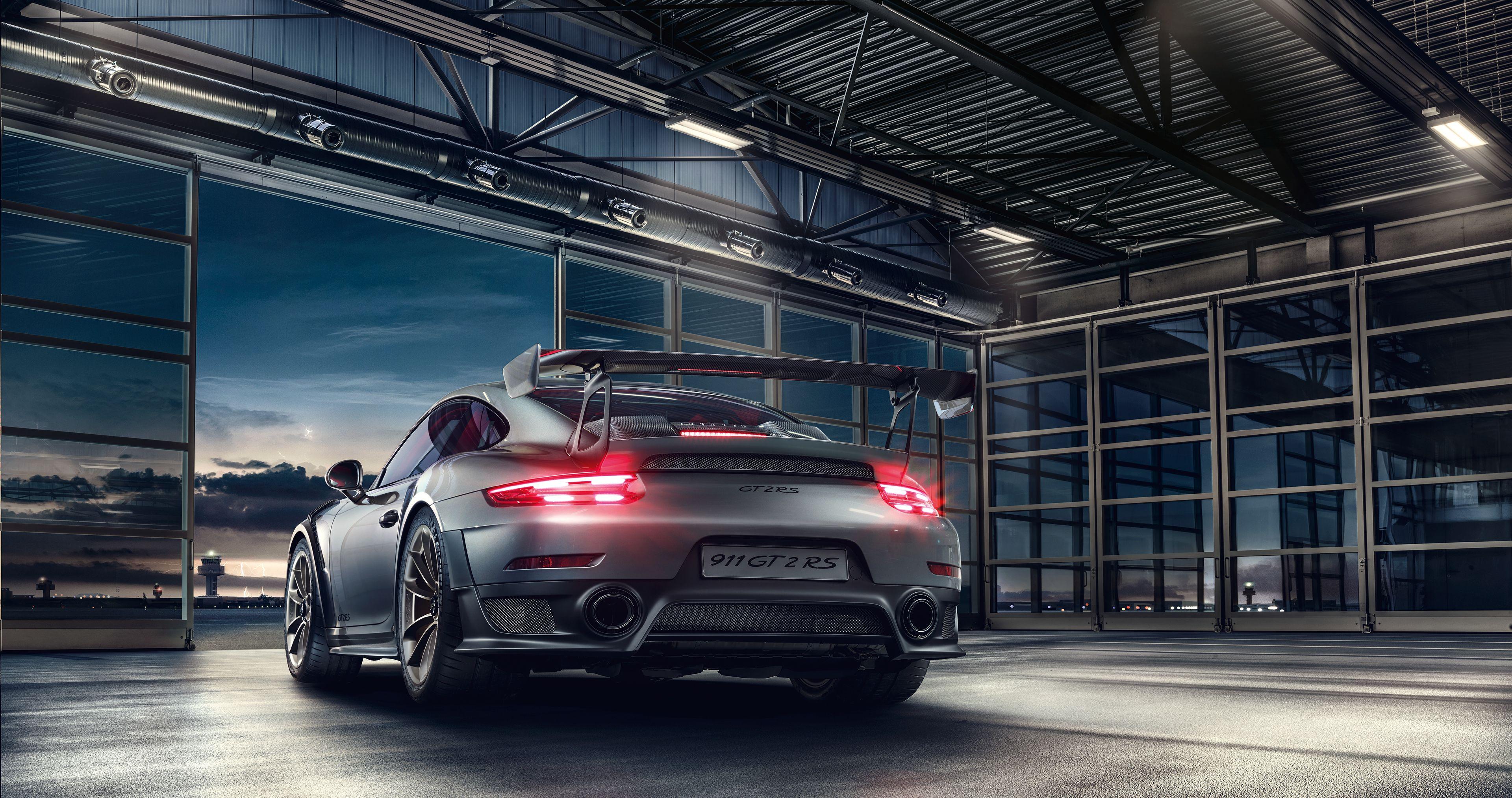 Wallpaper Porsche 911 GT2 RS, Rear view, HD, 4K, Automotive / Cars