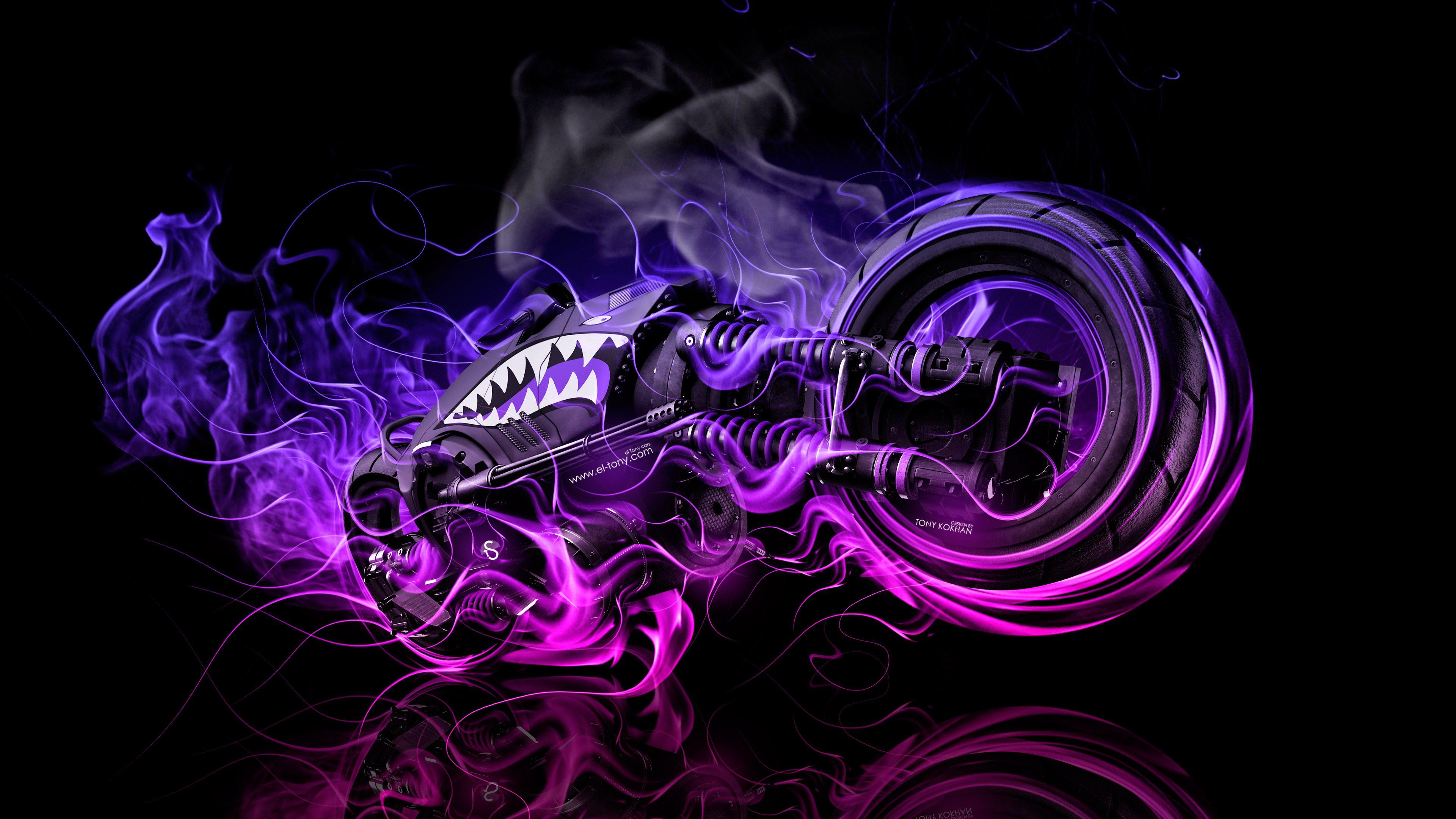 Purple Fire Wallpapers Wallpaper Cave