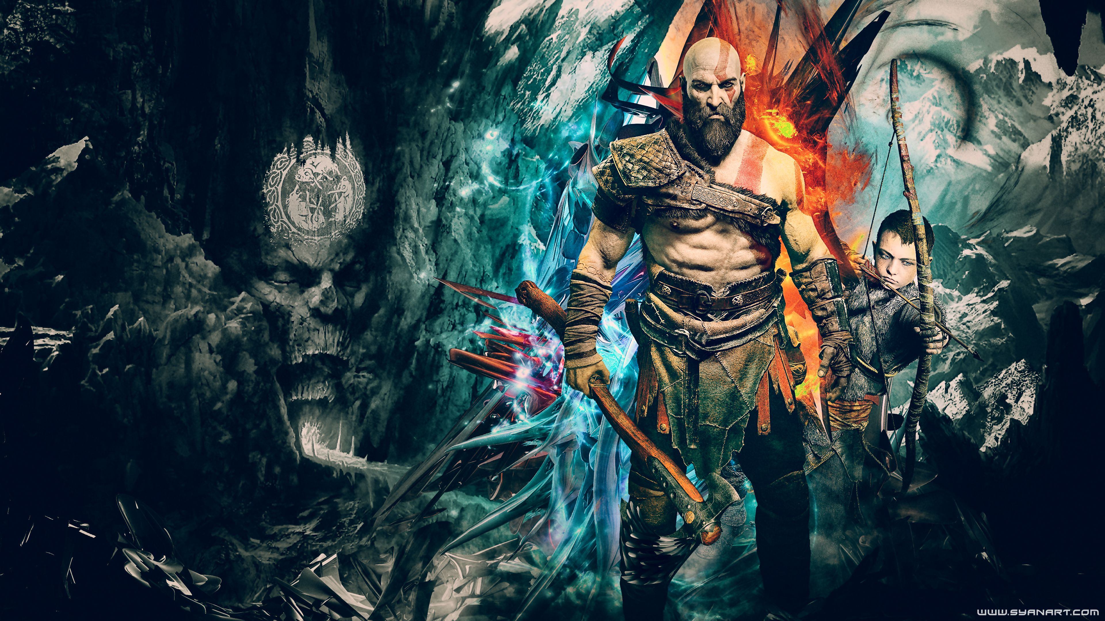 God Of War 4k Wallpapers Wallpaper Cave