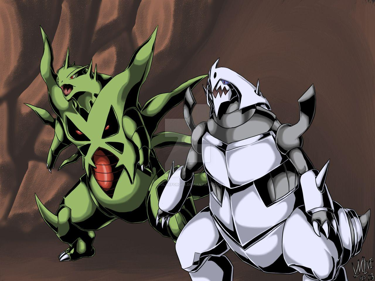 Tyranitar X Aggron by WolveForger on DeviantArt