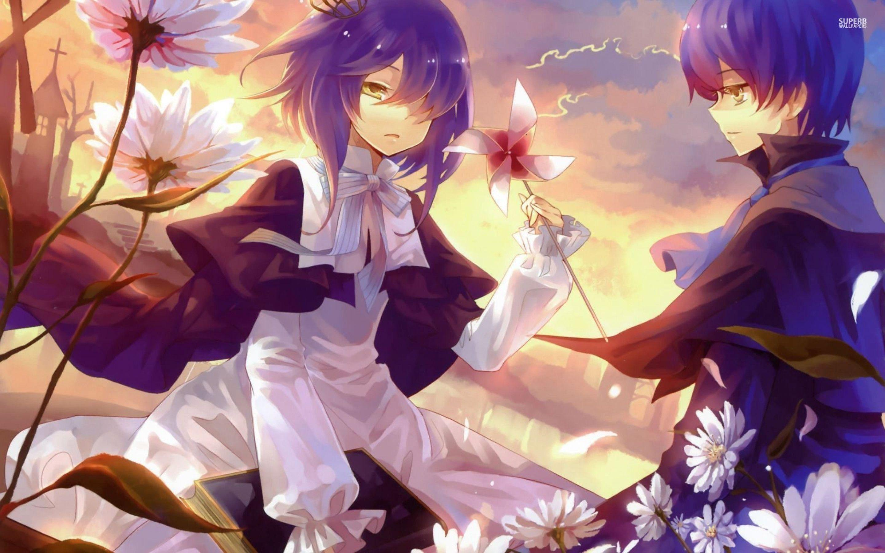 Anime girl and boy wallpapers wallpaper cave - Boy with rose wallpaper ...