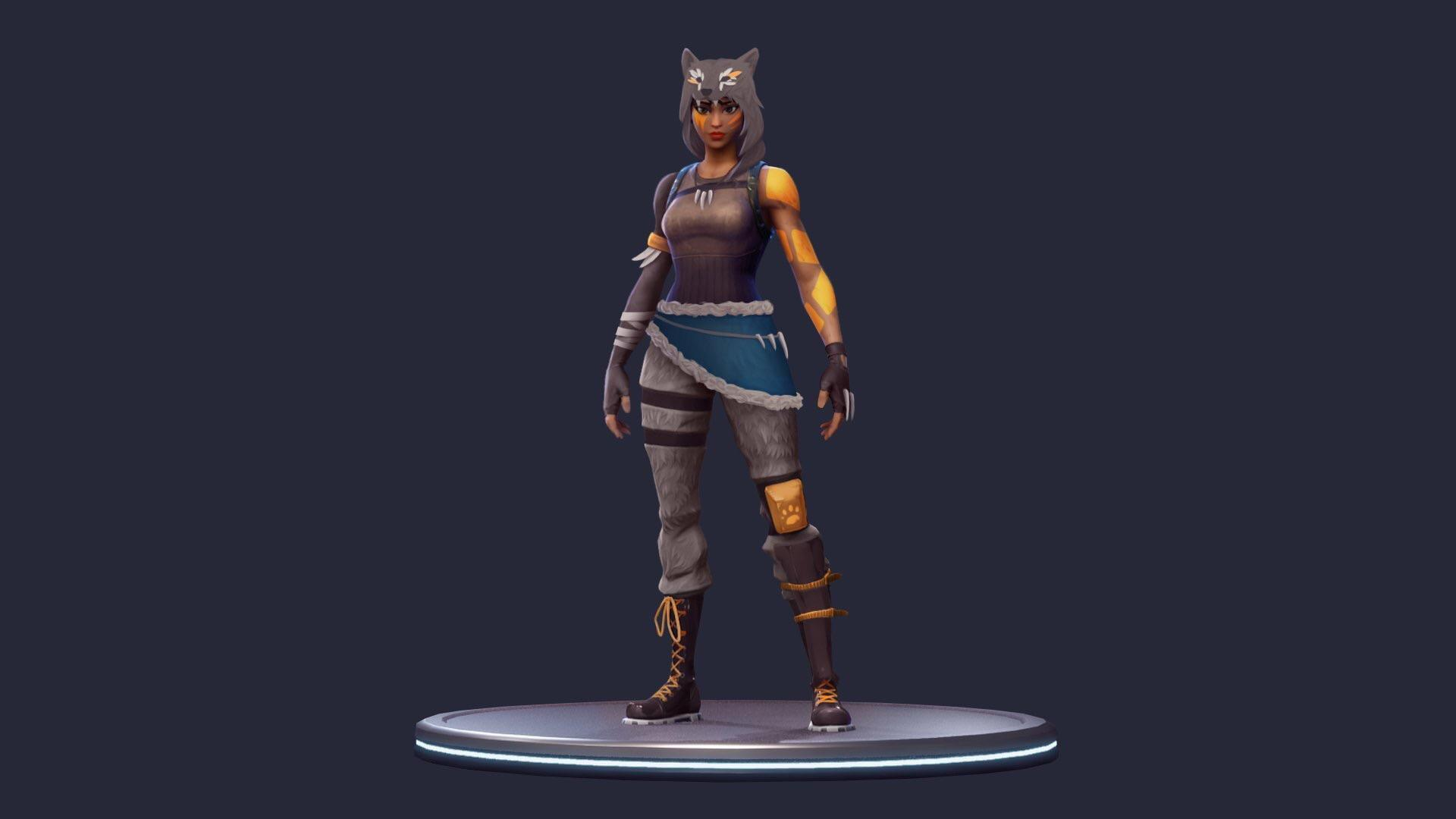 Wolf Skin concept for DK made by his lady. Please add epic! : FortNiteBR