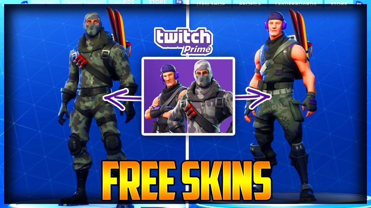 How To Get the TWITCH PRIME SKINS FOR FREE Fortnite Battle Royale