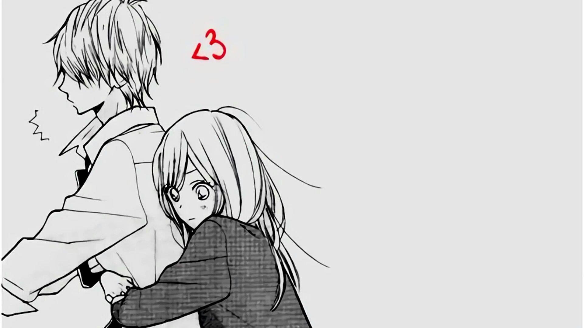 Black And White Anime Couple Wallpapers Wallpaper Cave