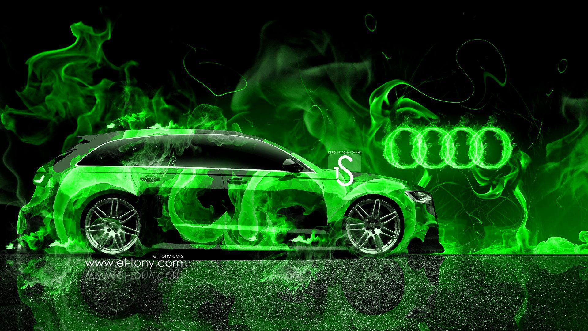 Green Car Wallpaper Unique Audi A6 Avant Quattro Fire Mika