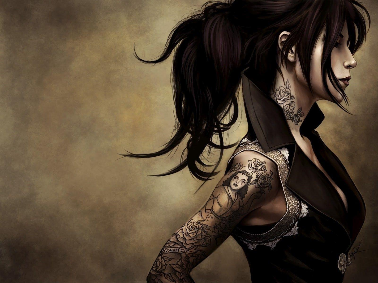 women, Drawing, Kat Von D Wallpapers HD / Desktop and Mobile Backgrounds