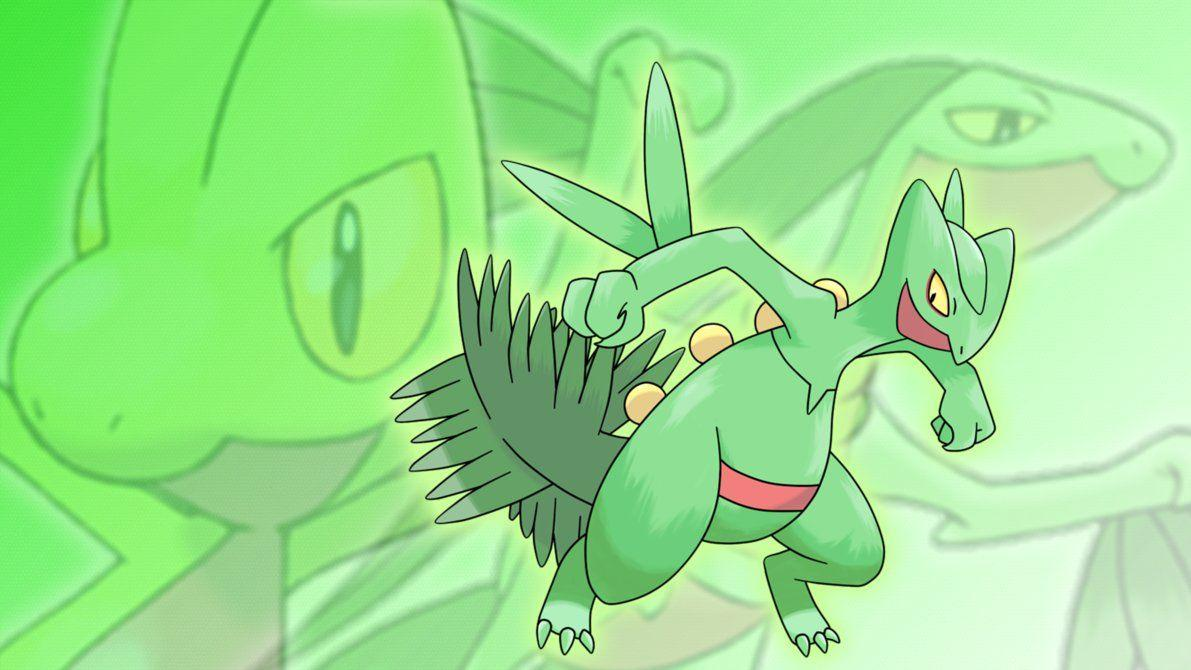 Treecko, Grovyle, and Sceptile Wallpapers by Glench