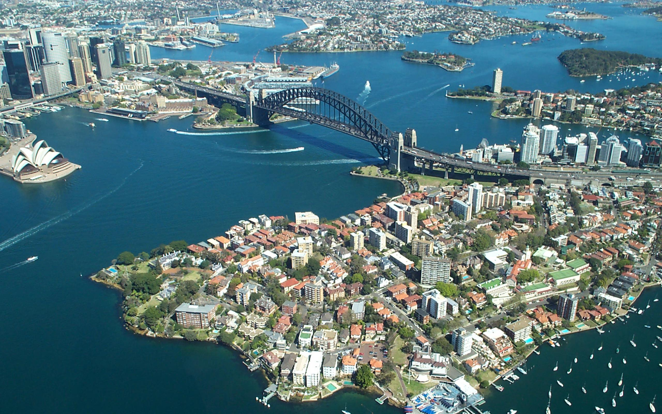 Sydney Harbour Bridge From The Air