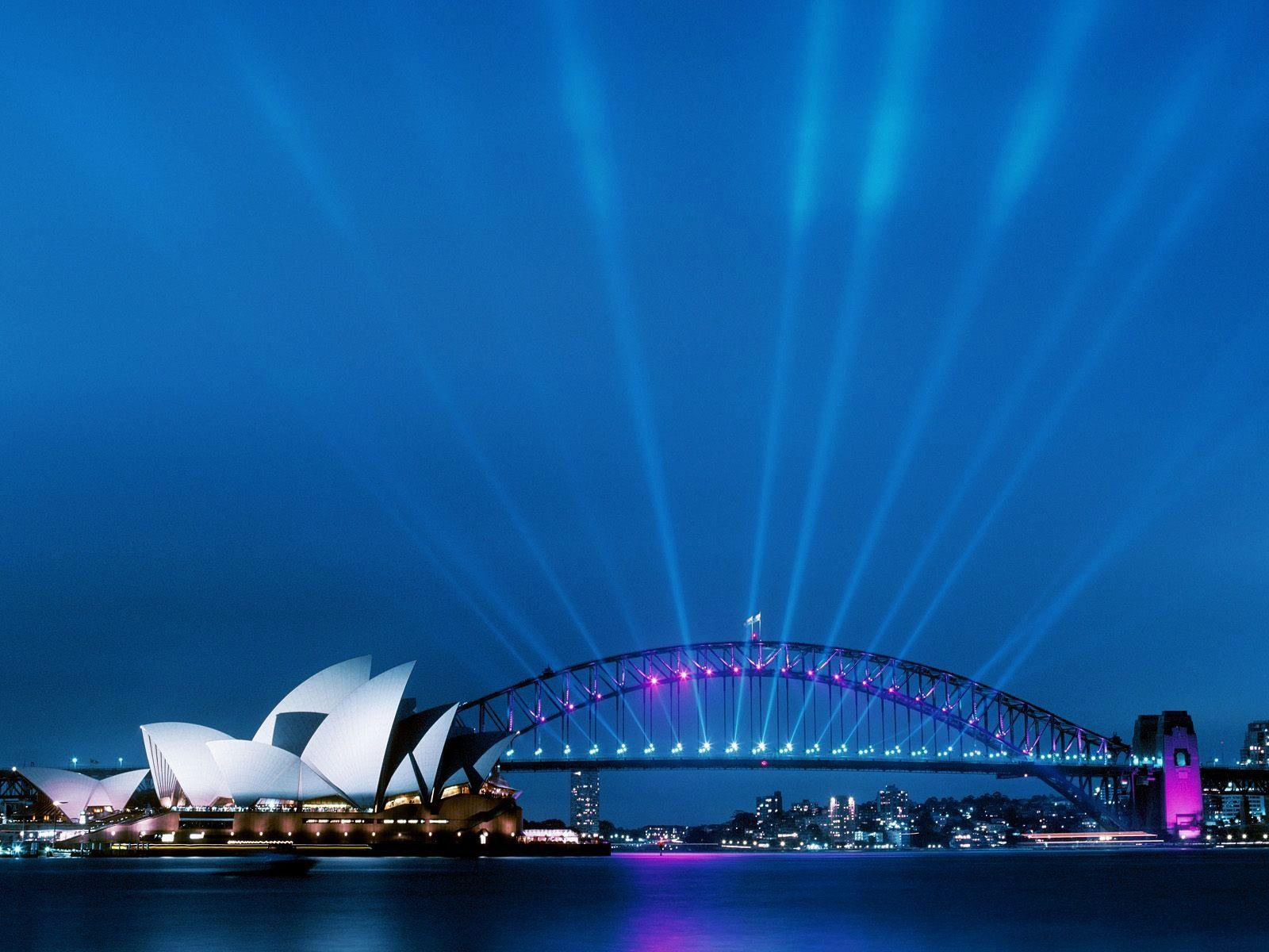 Sydney Opera House at Dusk Wallpapers