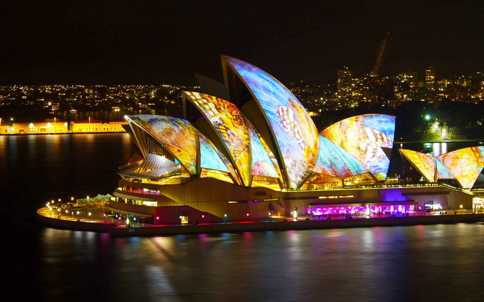 Sydney Opera House At Night Magnificent HD Wallpapers