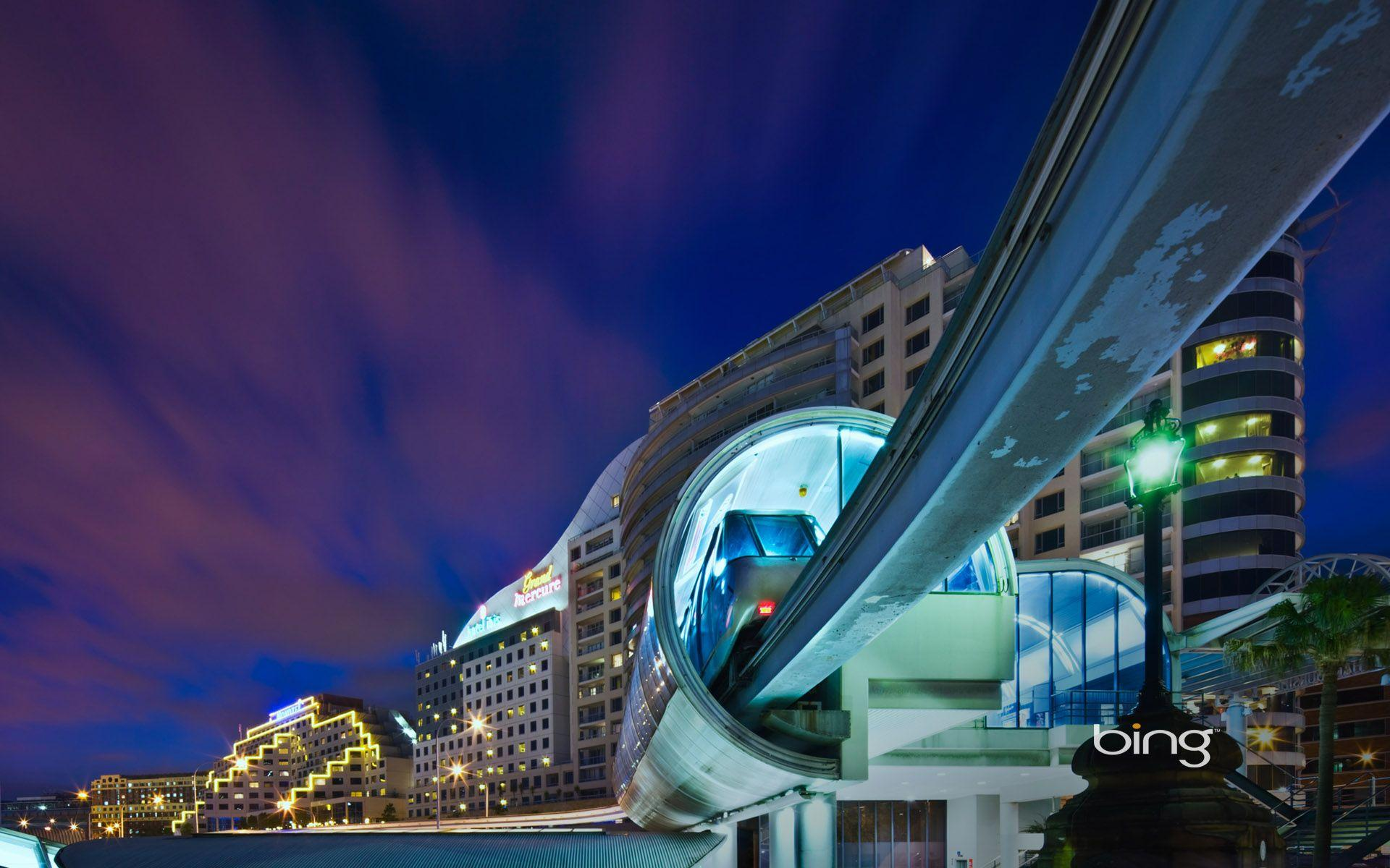 Monorail Darling Harbour Sydney Wallpapers