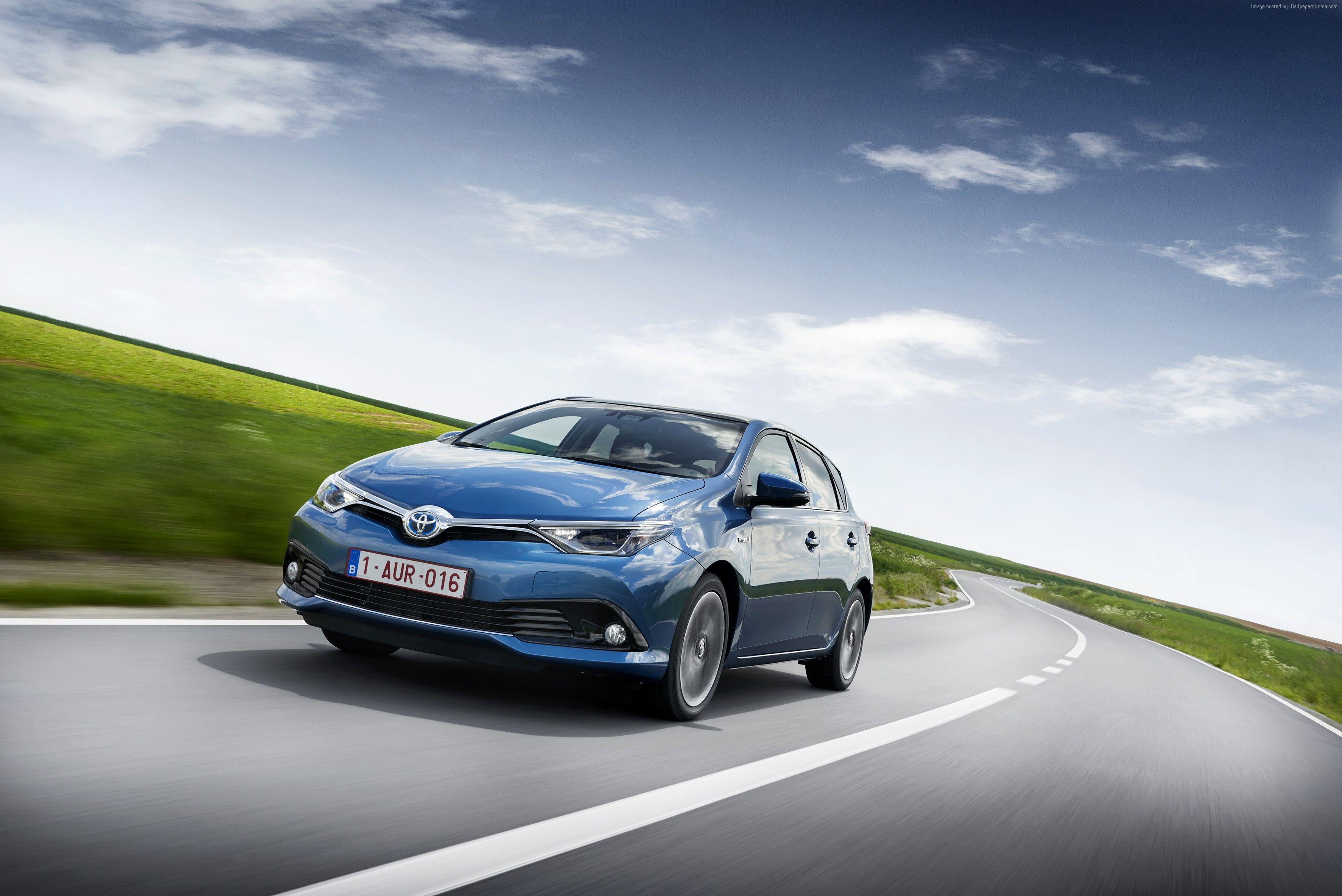 Wallpapers Toyota auris, hatchback, hybrid, blue., Cars & Bikes