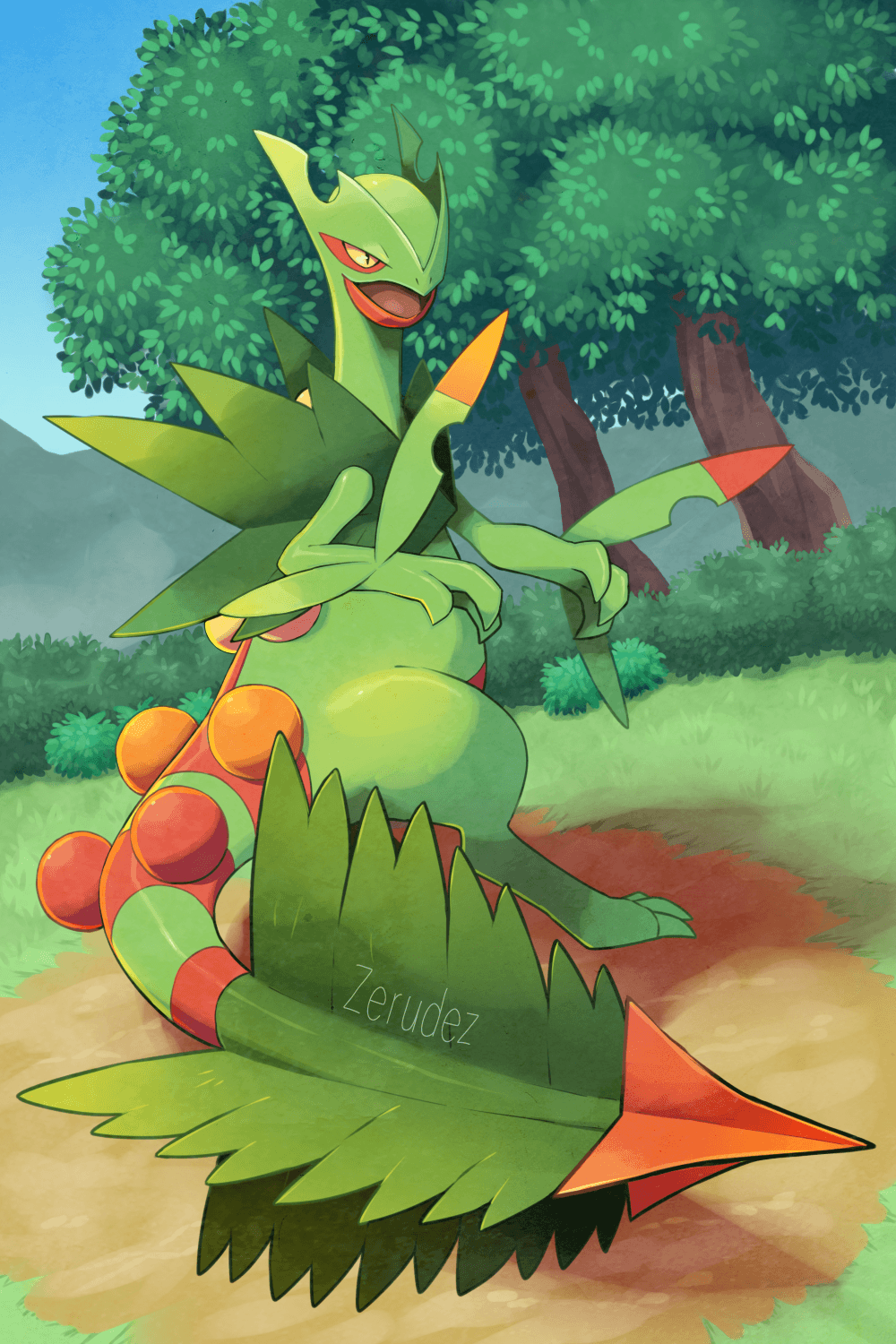 Mega Sceptile: My Sceptile, Grecki, was one of my first Pokemon to