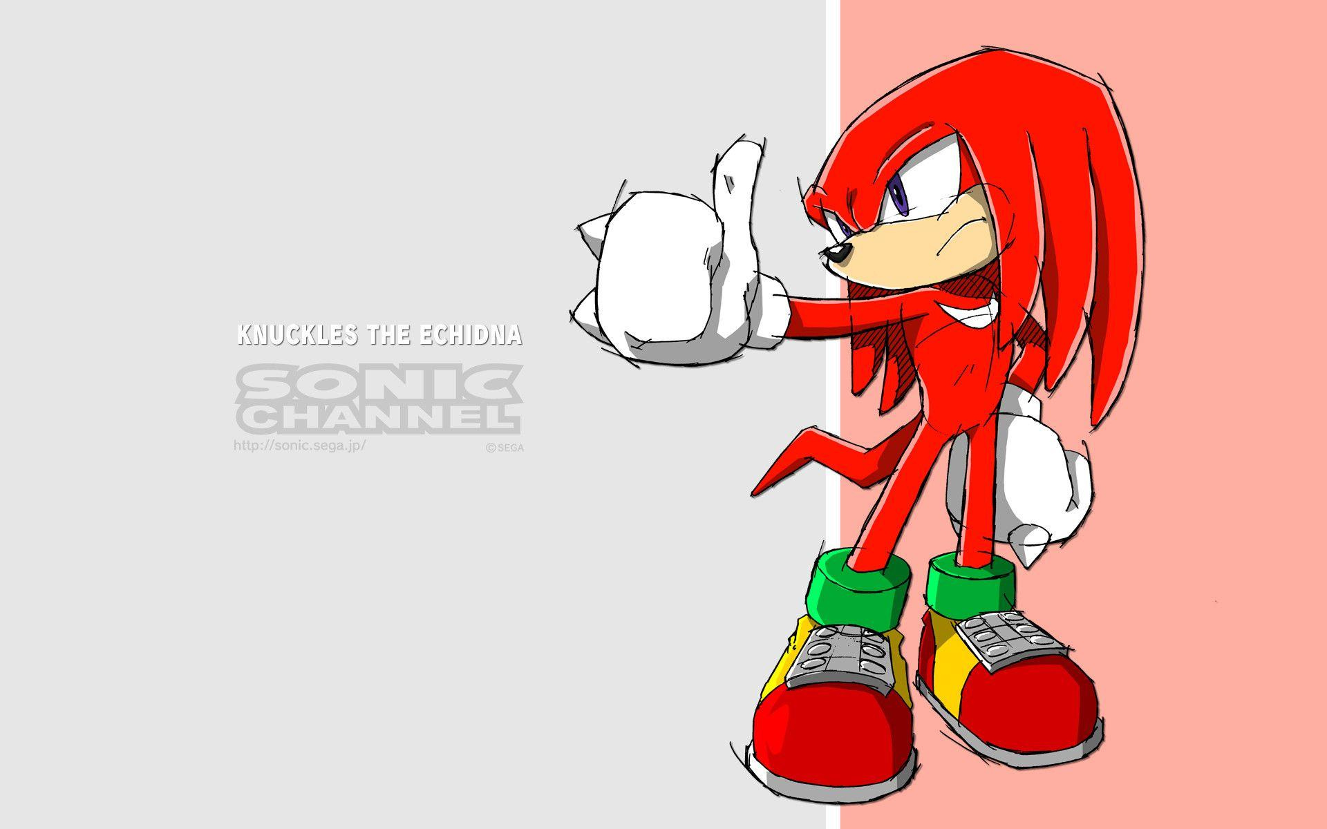 Knuckles The Echidna Sonic Tail Wallpapers Wallpaper Cave