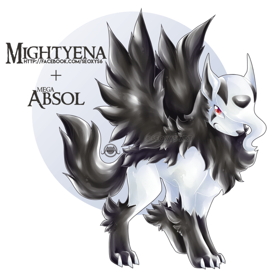 Mightyena X Mega Absol by Seoxys6
