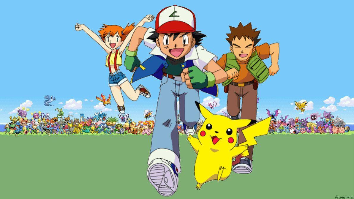 Pok mon ash and misty wallpapers wallpaper cave - Ash and pikachu wallpaper ...