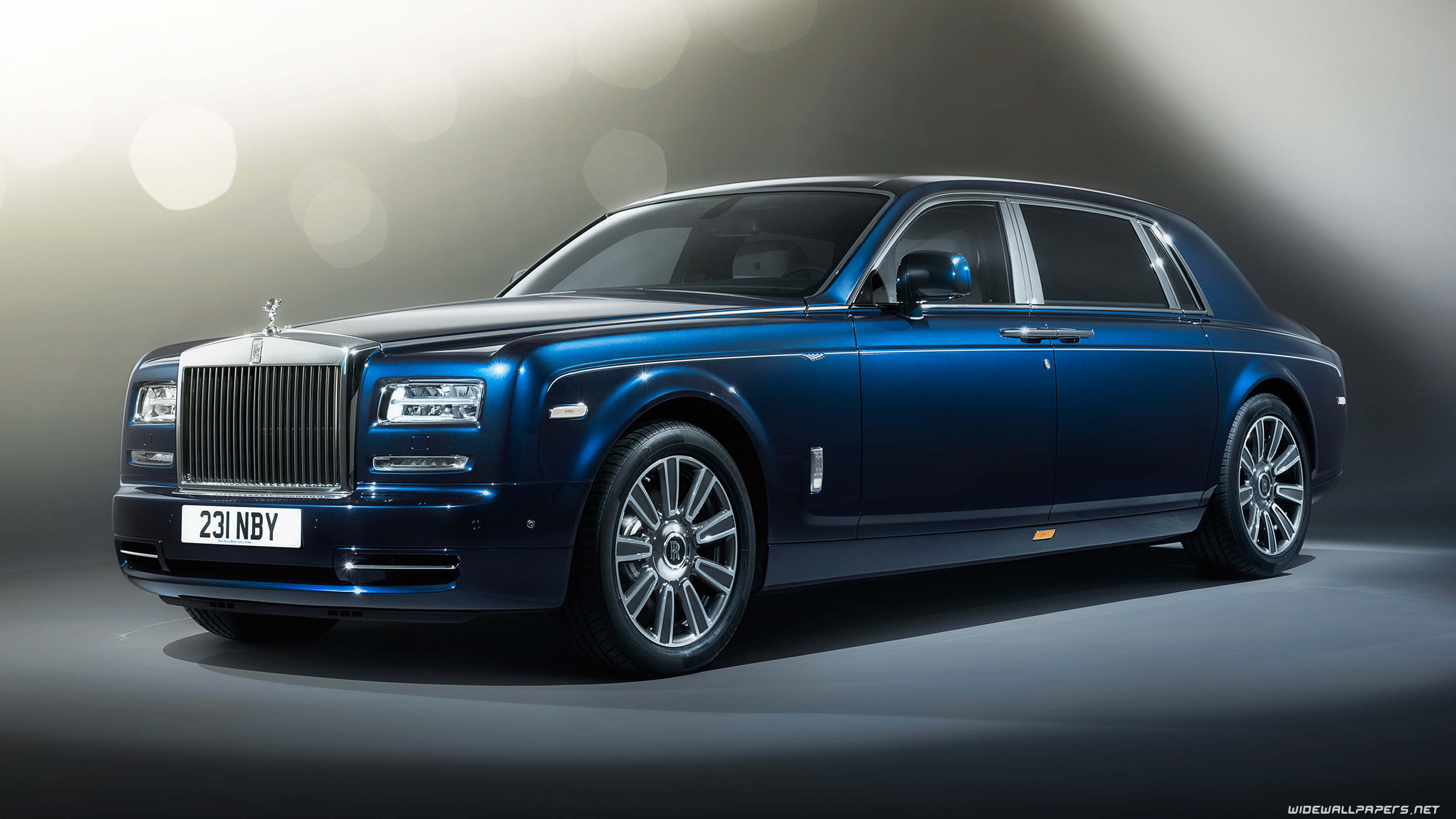 Blue 2017 Rolls Royce Phantom UHD 4K Wallpaper | Pixelz