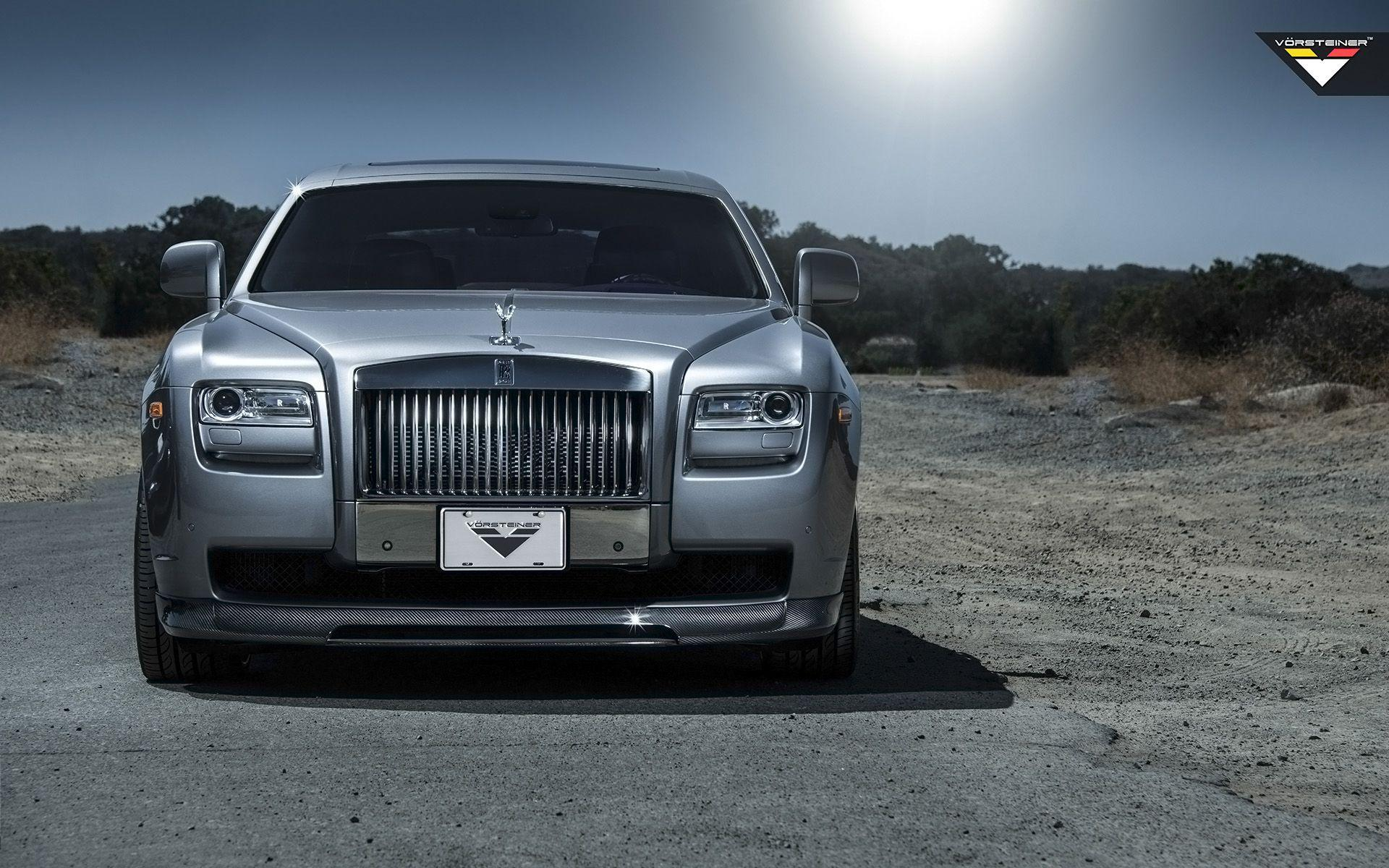 2014 Vorsteiner Rolls Royce Ghost Silver Wallpaper | HD Car Wallpapers