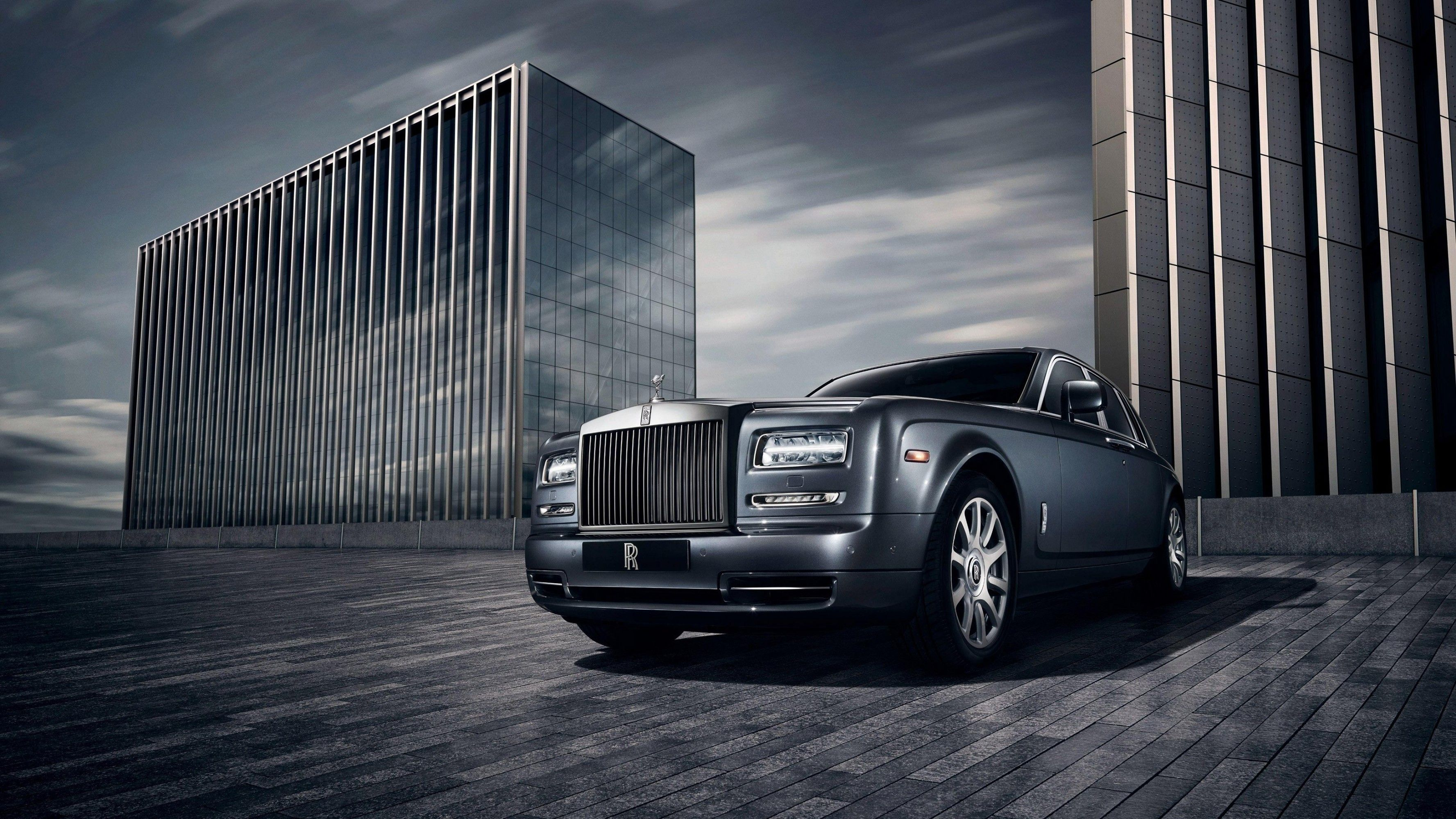 Parked Rolls Royce Ghost HD desktop wallpaper : Widescreen : High ...