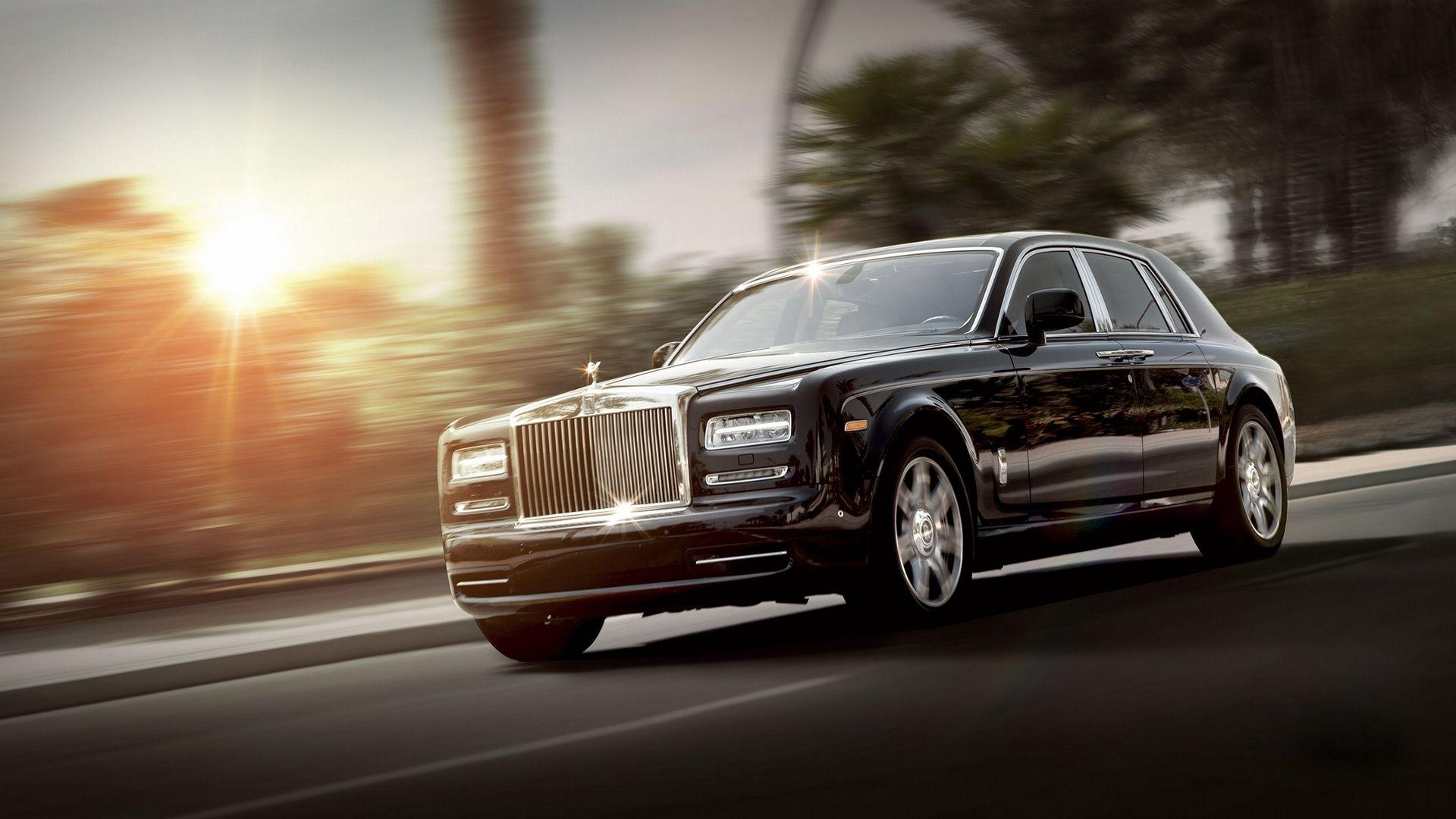 Download wallpaper 1920x1080 rolls royce, phantom, luxury, side view ...