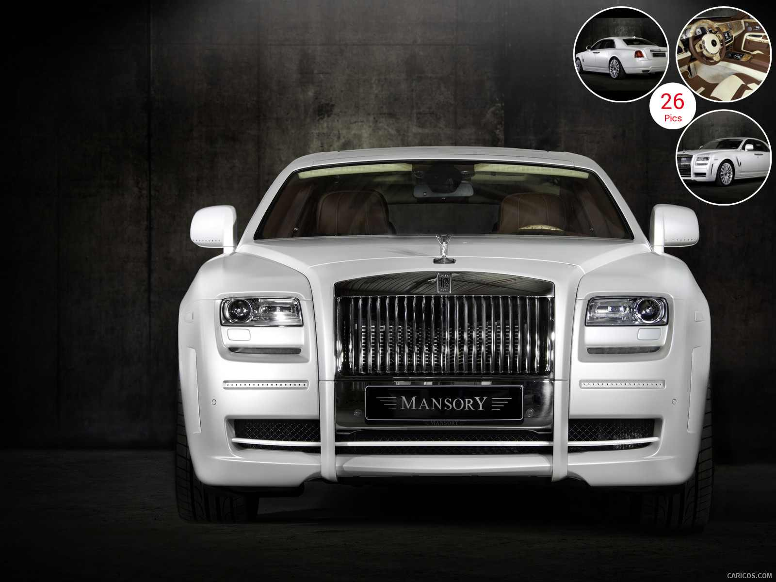 Mansory Rolls-Royce Ghost White - Front | Wallpaper #5