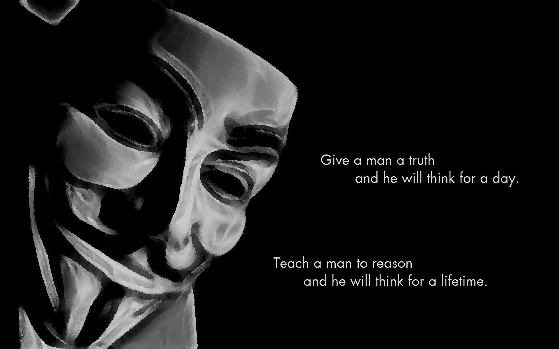 V For Vendetta Mask Wallpapers Wallpaper Cave