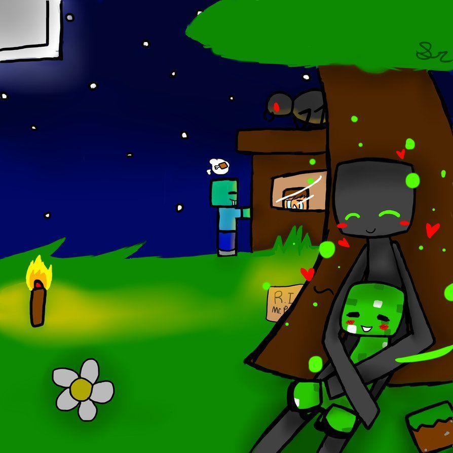 Minecraft Creeper X Enderman Backgrounds Wallpaper Cave