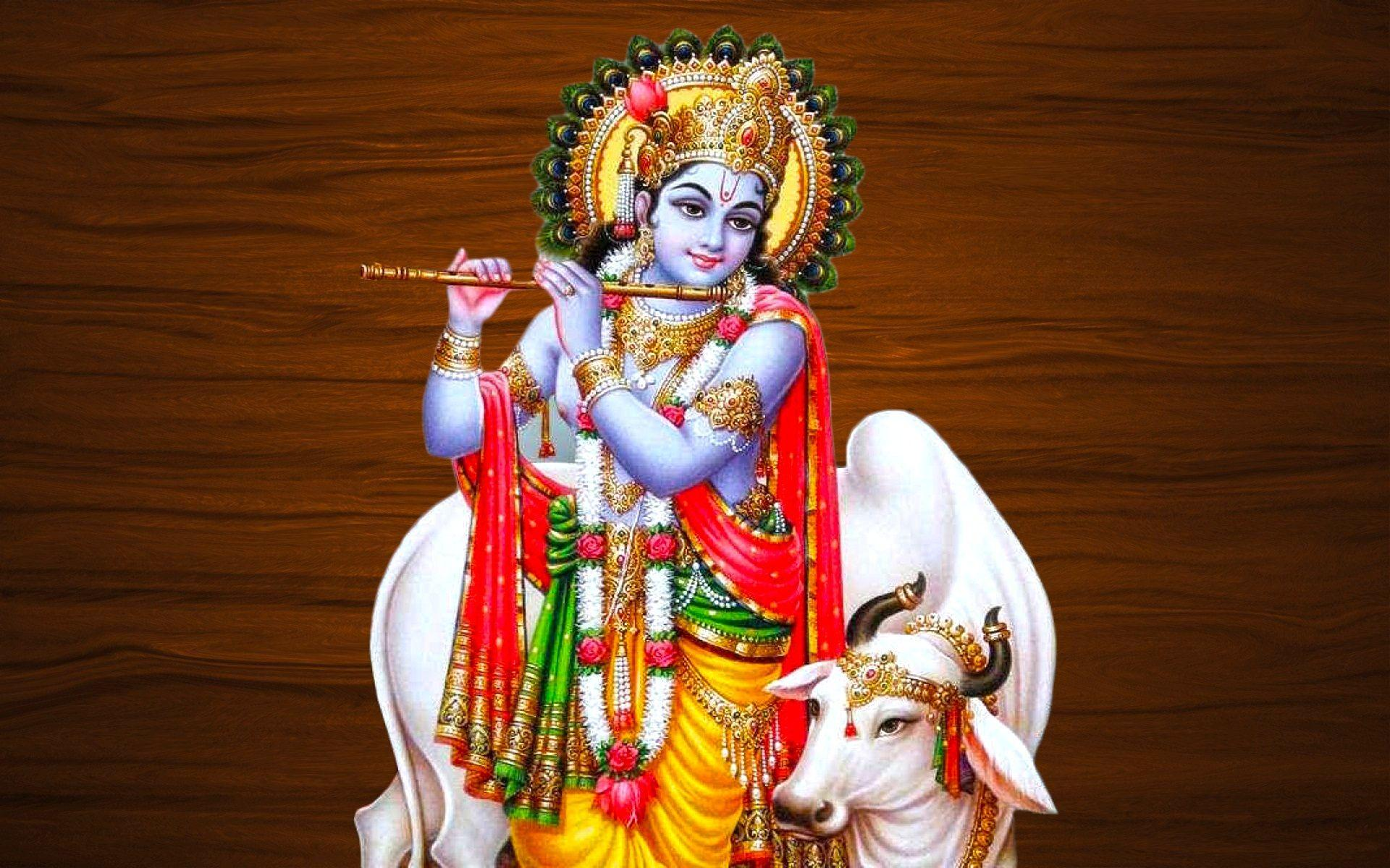 Lord Baby Krishna Wallpapers With Cow - All About Cow Photos