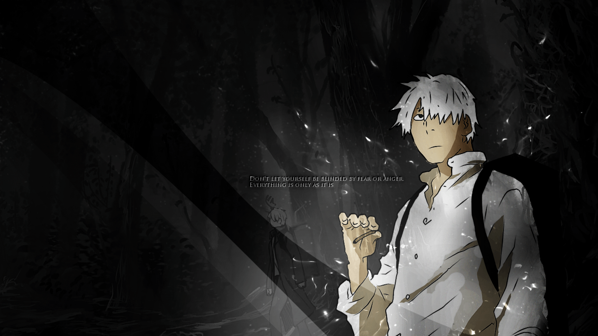 SimplyWallpapers: Ginko Mushishi anime manga desktop bakcgrounds