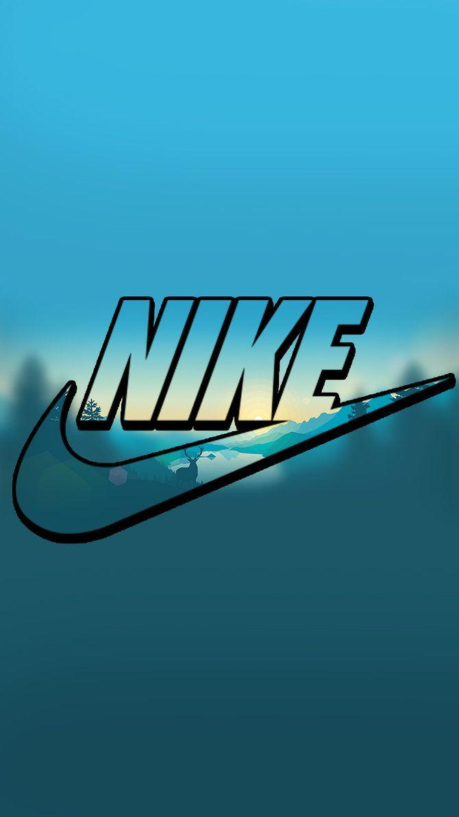 Nike Logo In Blue Backgrounds Wallpaper Cave