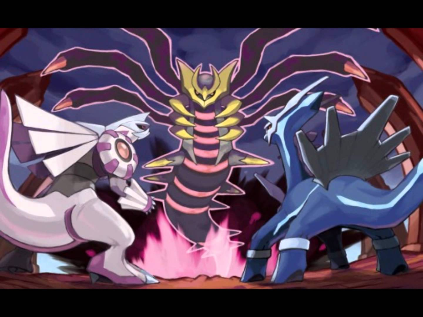 Shiny Palkia , Dialga, And Giratina [Origin And Altered Forms