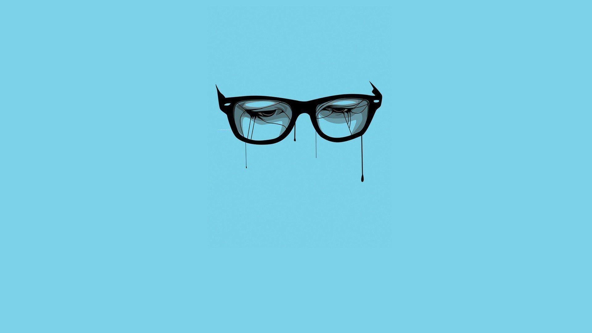 Blue Backgrounds Breaking Bad Glasses Minimalistic