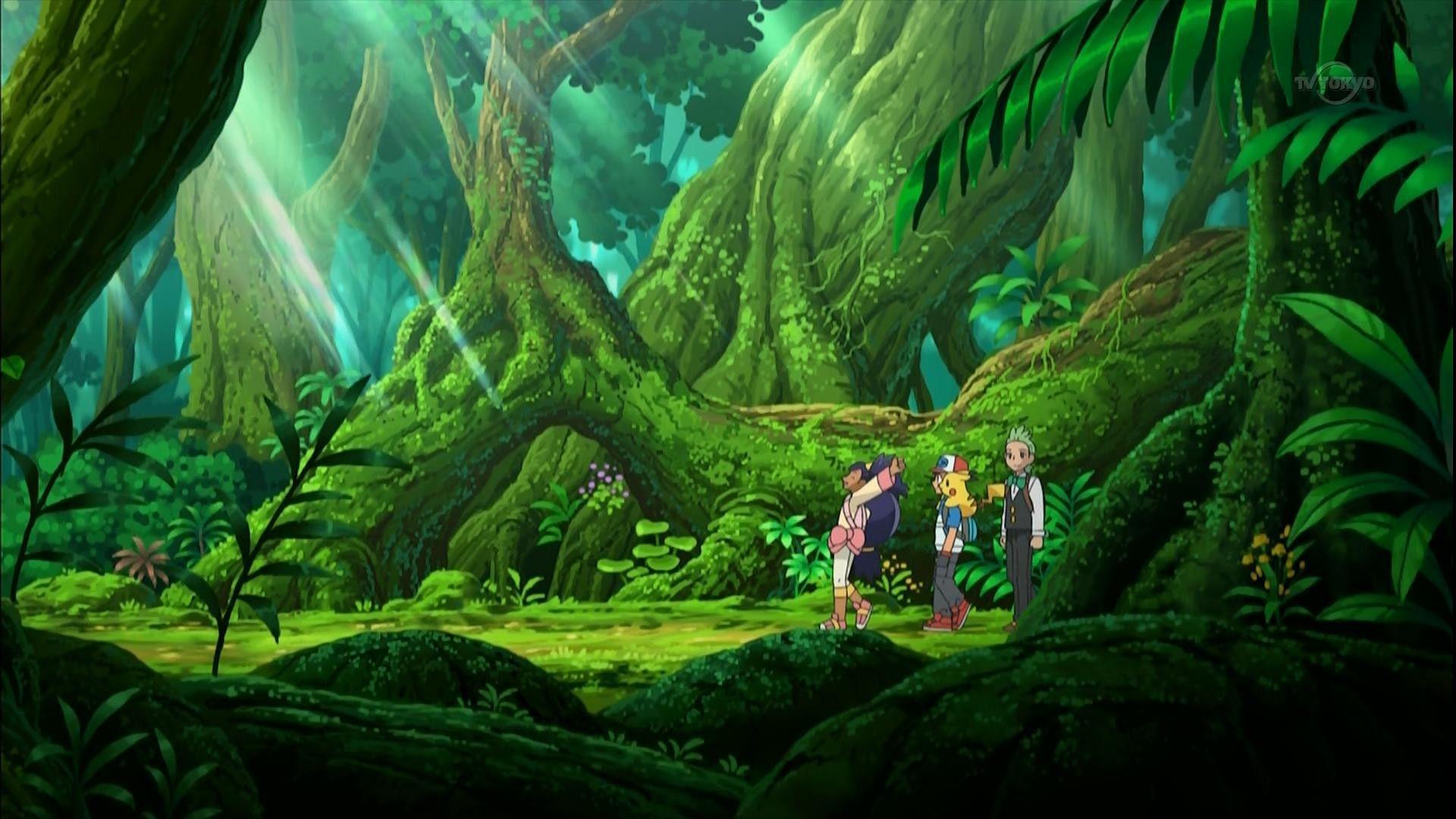 Pokémon Anime Forest Backgrounds - Wallpaper Cave