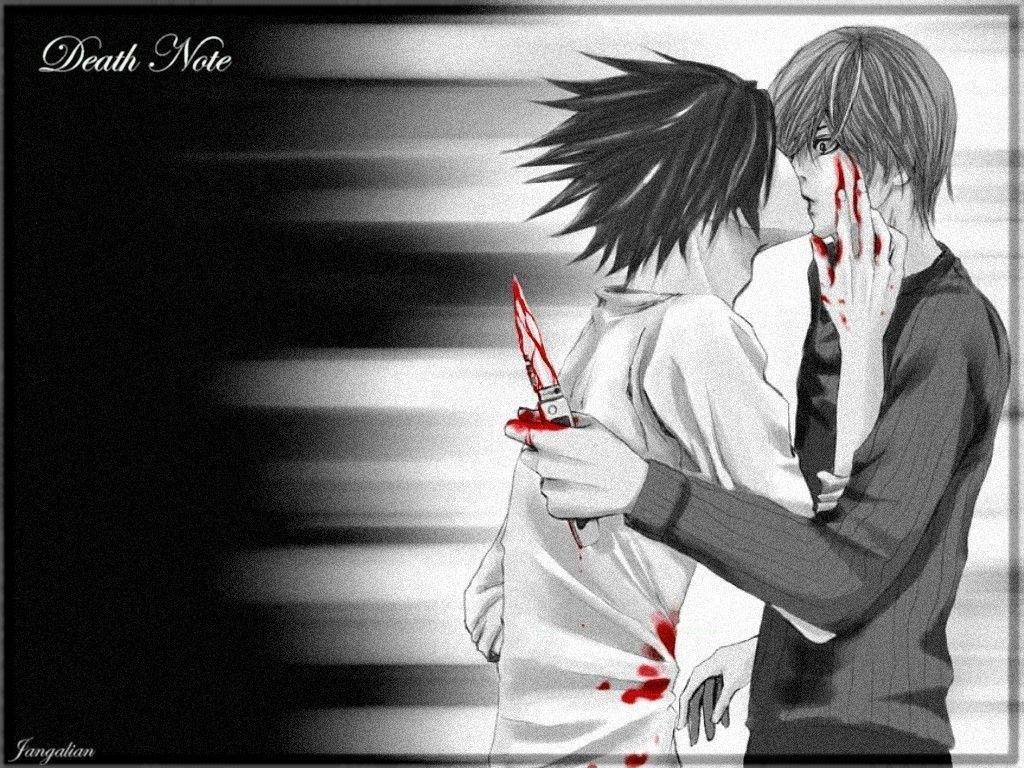 Death Note Wallpapers L And Light Wallpaper Cave