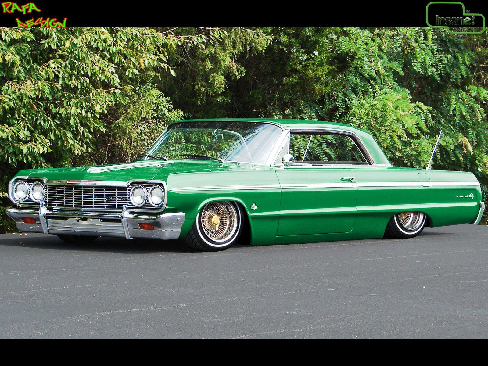 This Bad A here is a 1964 Chevy Impala pancaked!! My Style of a ride ...
