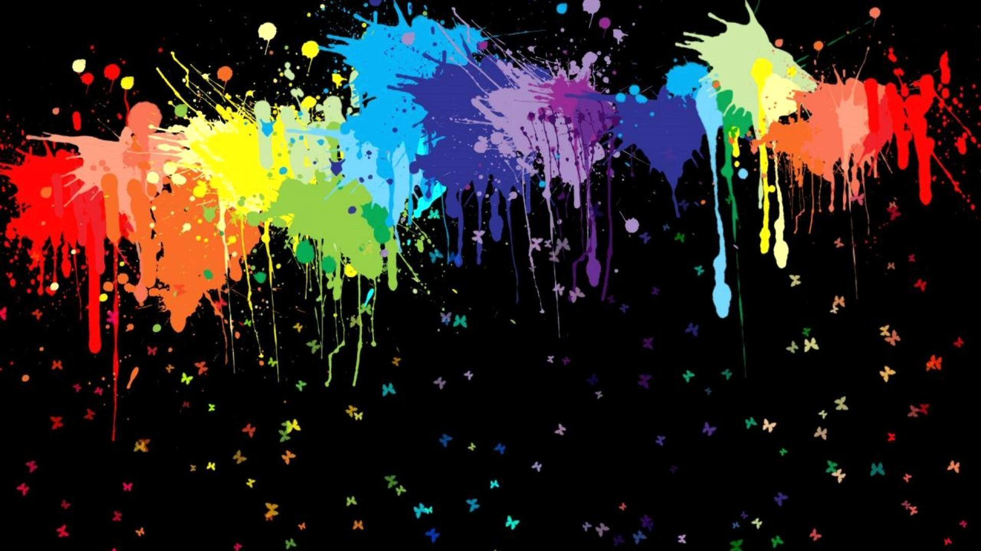 multicolor, paint, paintball :: Wallpapers
