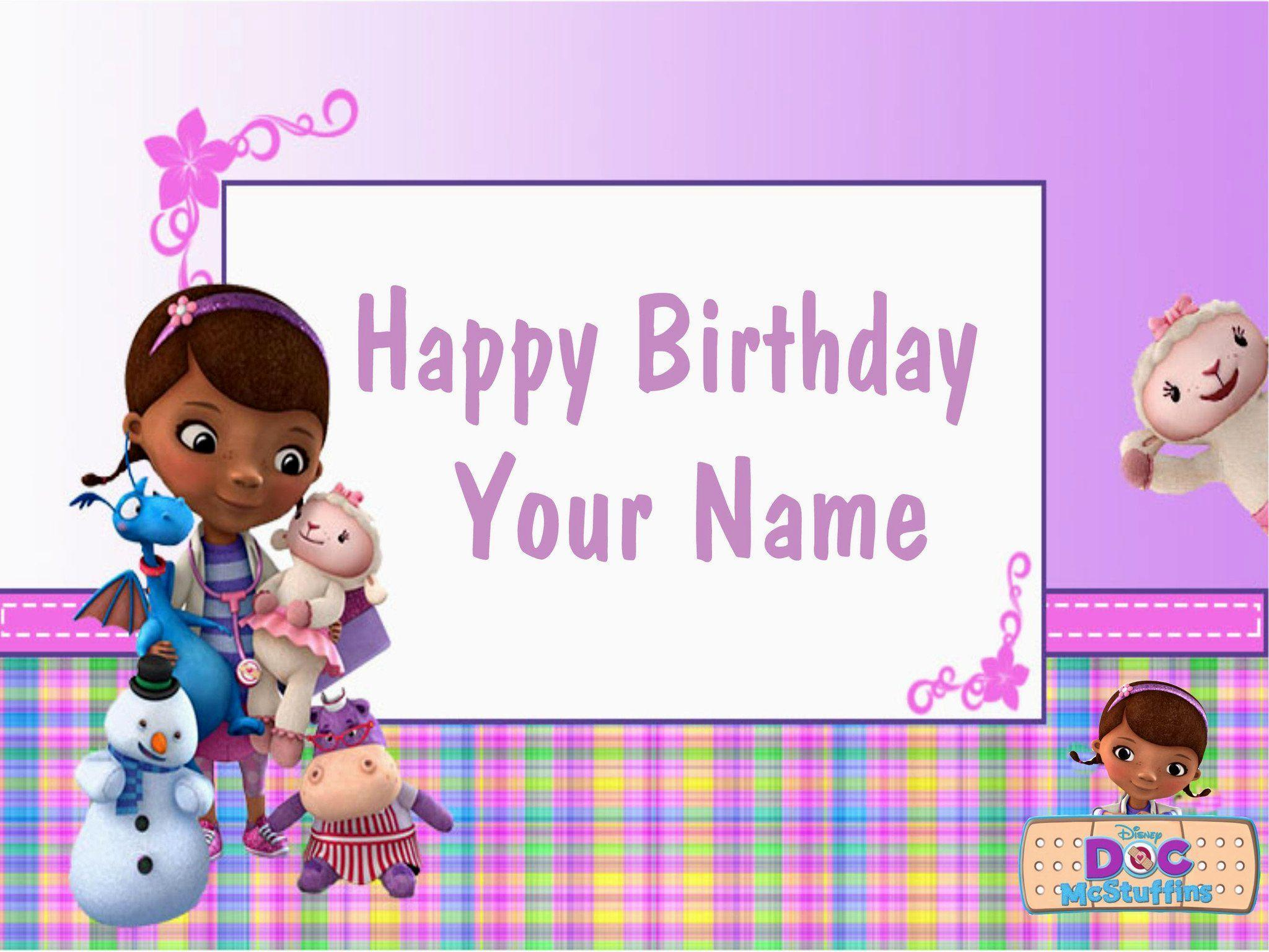 It's just an image of Fabulous Doc Mcstuffins Background