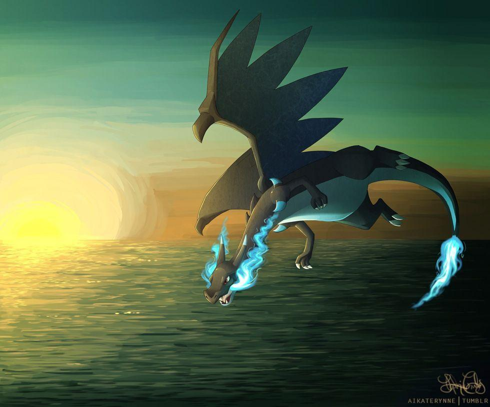 This would be a very sick wallpaper. Mega Charizard X by DashingHero