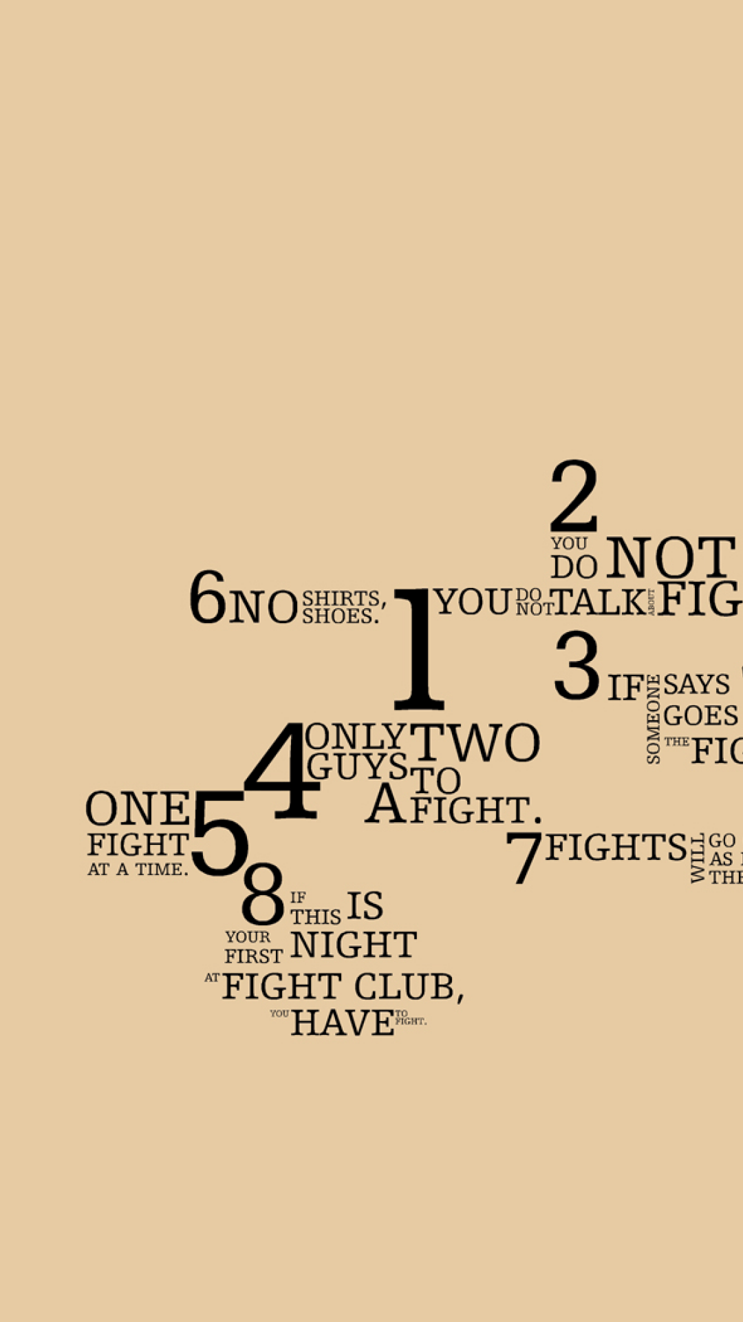 Fight Club Rules Quotes Iphone 6 Plus 1080x1920 Wallpaper