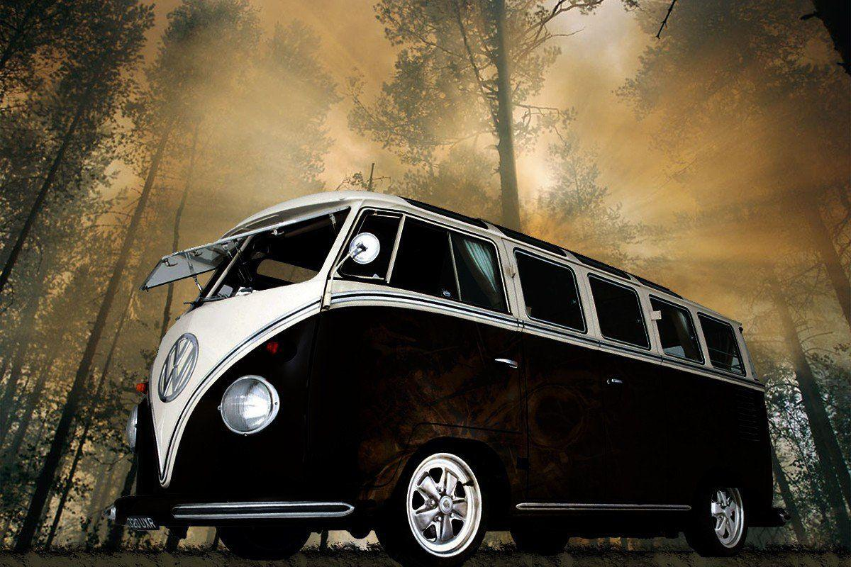 Black Volkswagen Bus Wallpapers HD